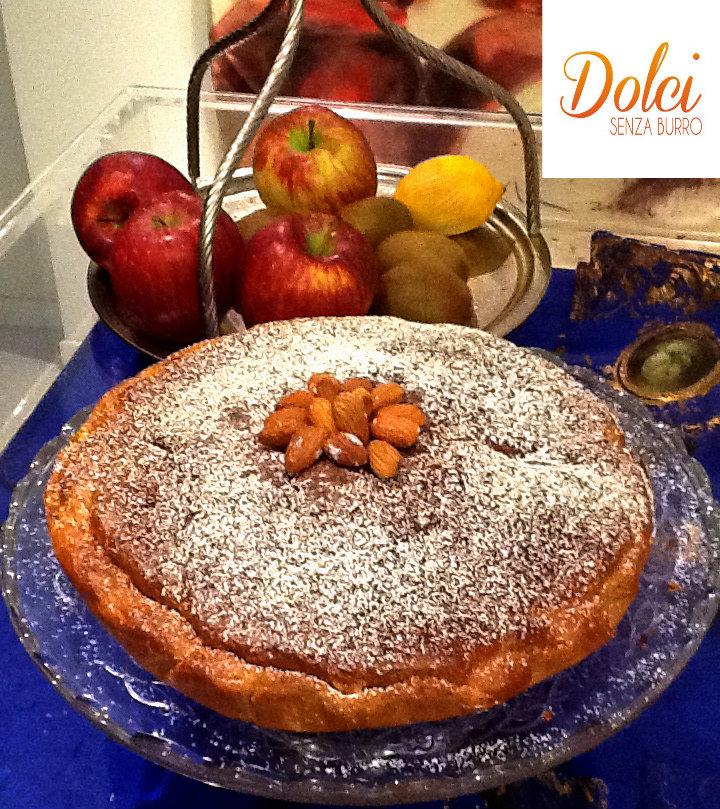 torta alla frutta secca senza burro, la torta golosa di dolci senza burro