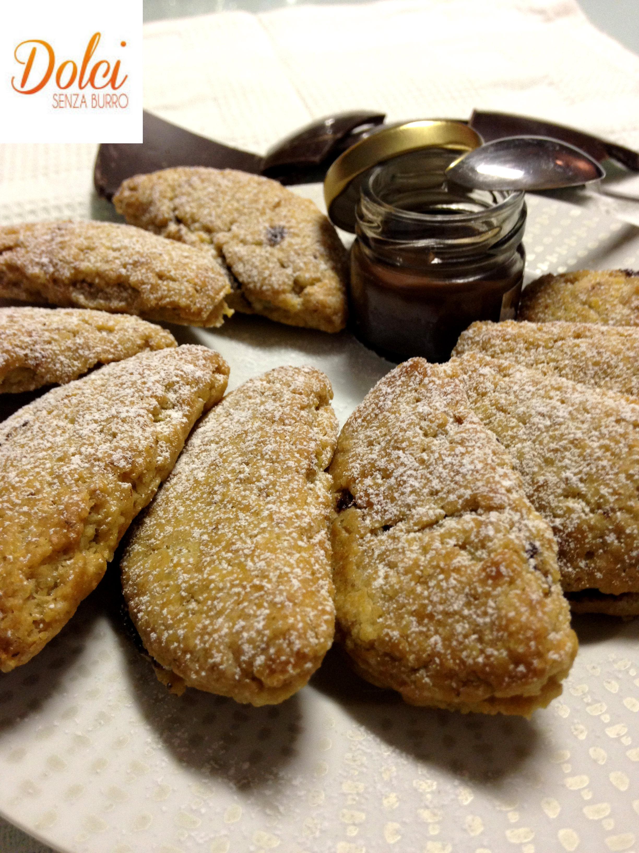 Mezzelune alla Nutella Senza burro il biscotto goloso di Dolci Senza Burro