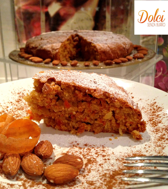 torta di carote senza burro- dolci senza burro