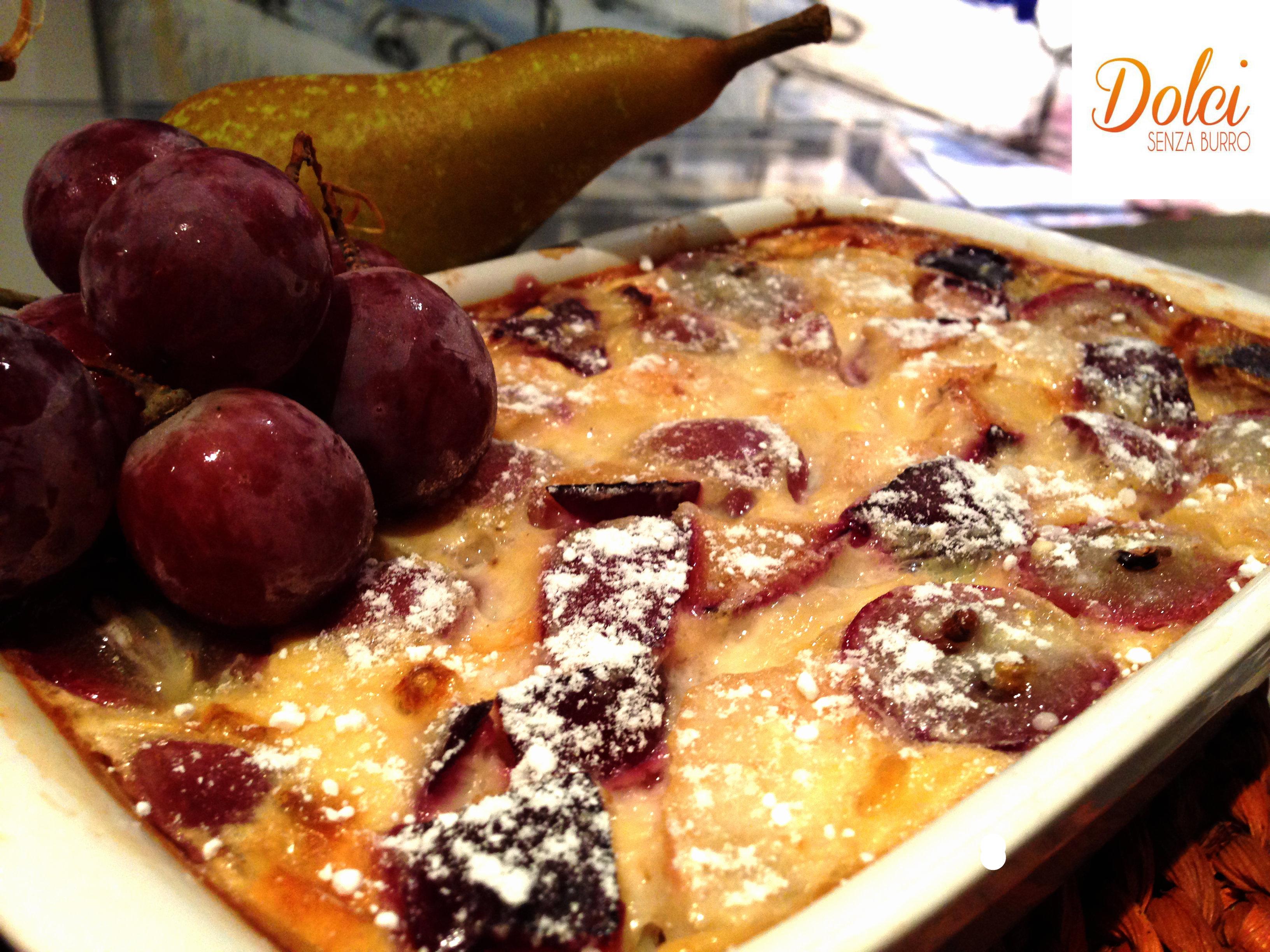 Clafoutis Senza Burro Autunnale, il dolce francese di Dolci Senza Burro