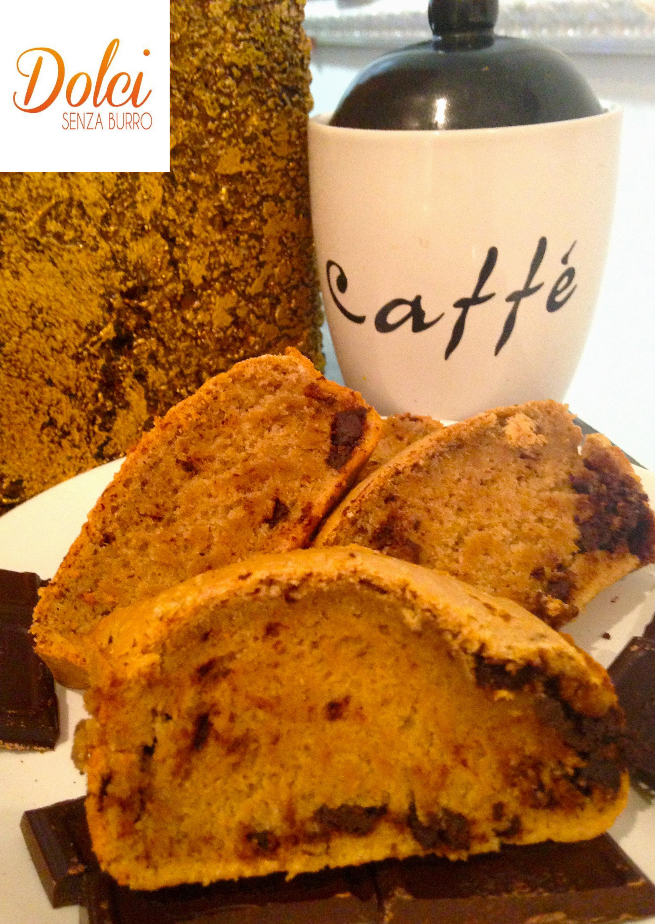 Plumcake Senza Burro al Caffè, un dolce senza lattosio e uova di Dolci Senza Burro