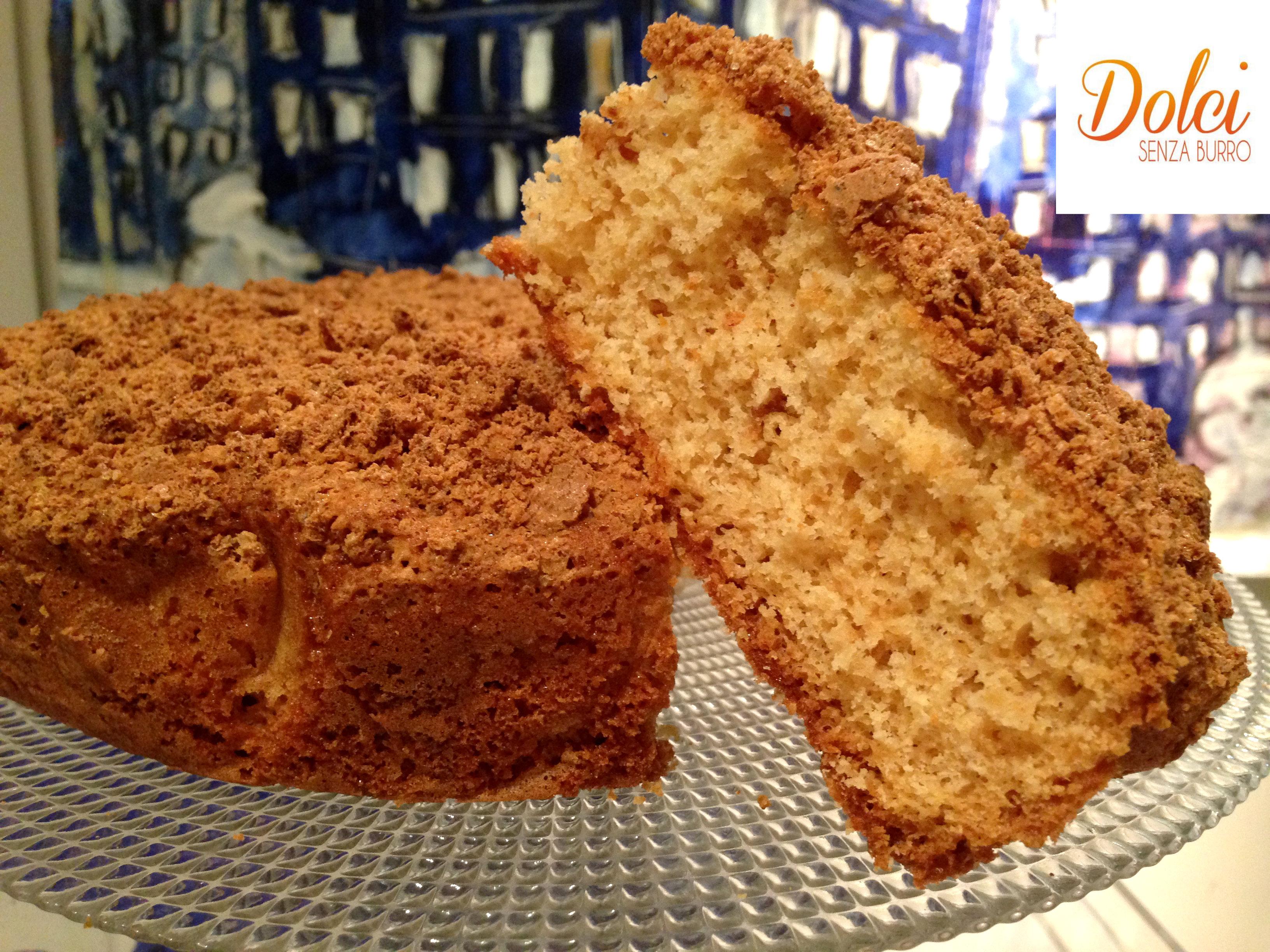 Torta con biscotti sbriciolati senza uova