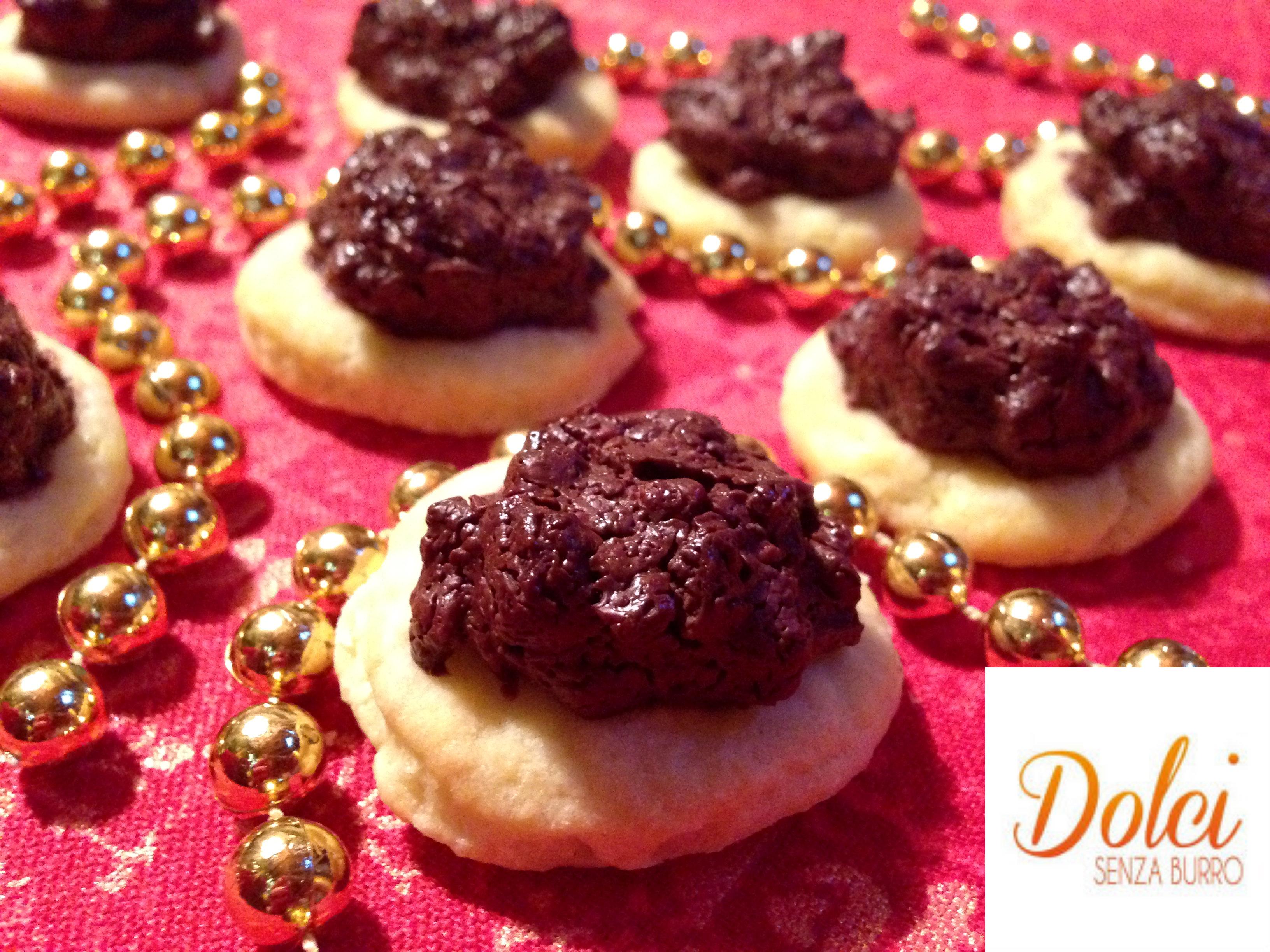 Biscotti Senza Burro cioccolto e Mandorle, il biscotto di natale di Dolci Senza Burro
