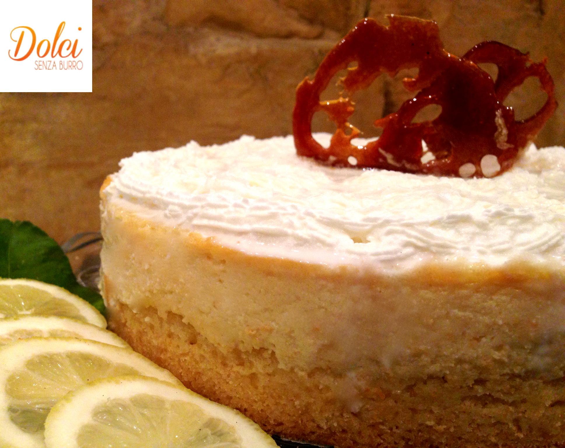 Cheesecake Senza Burro al Limone, la cheesecake light di Dolci Senza Burro