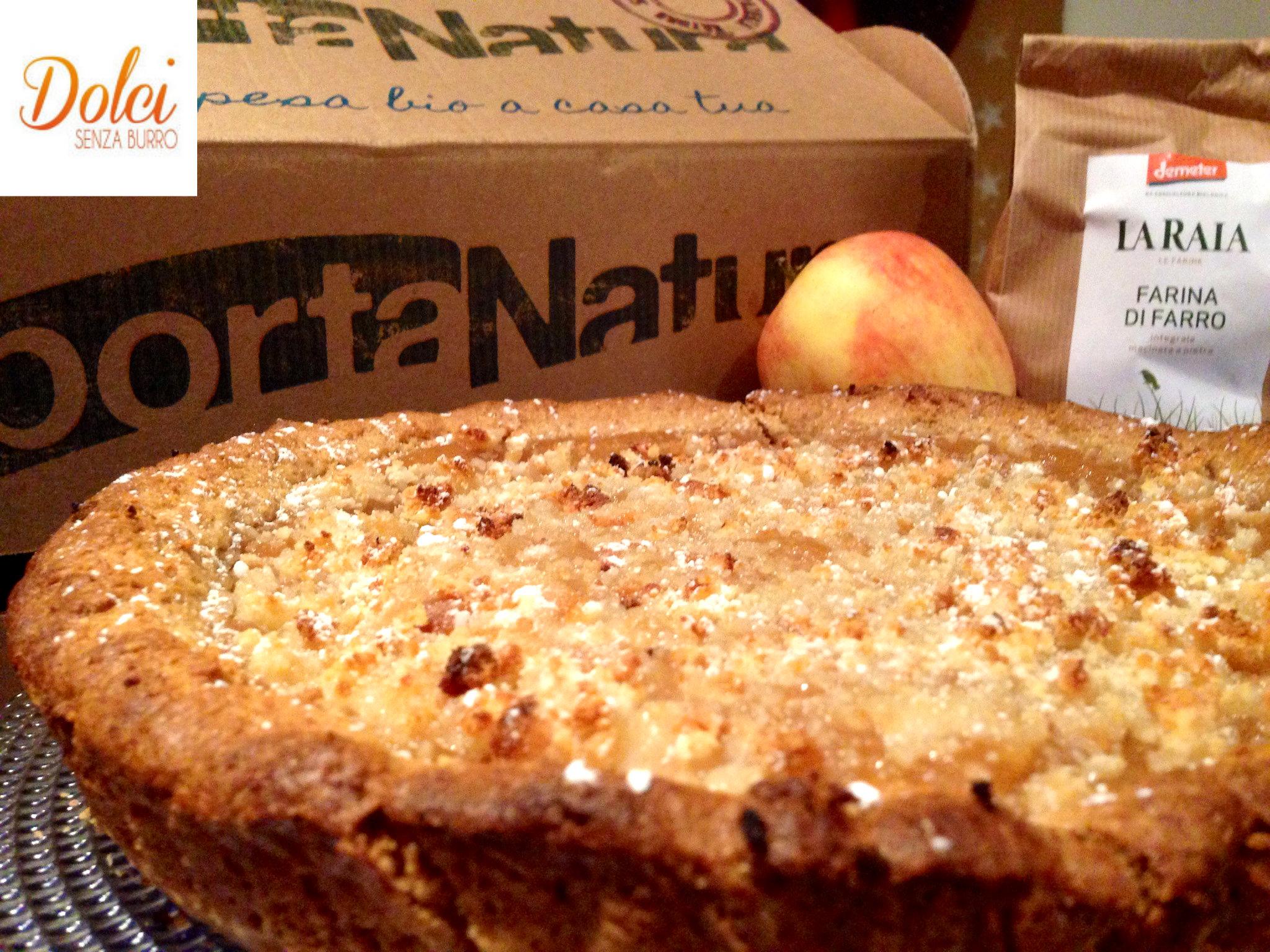 Crostata di farro senza burro alle mele dolci senza burro for Nuove ricette dolci
