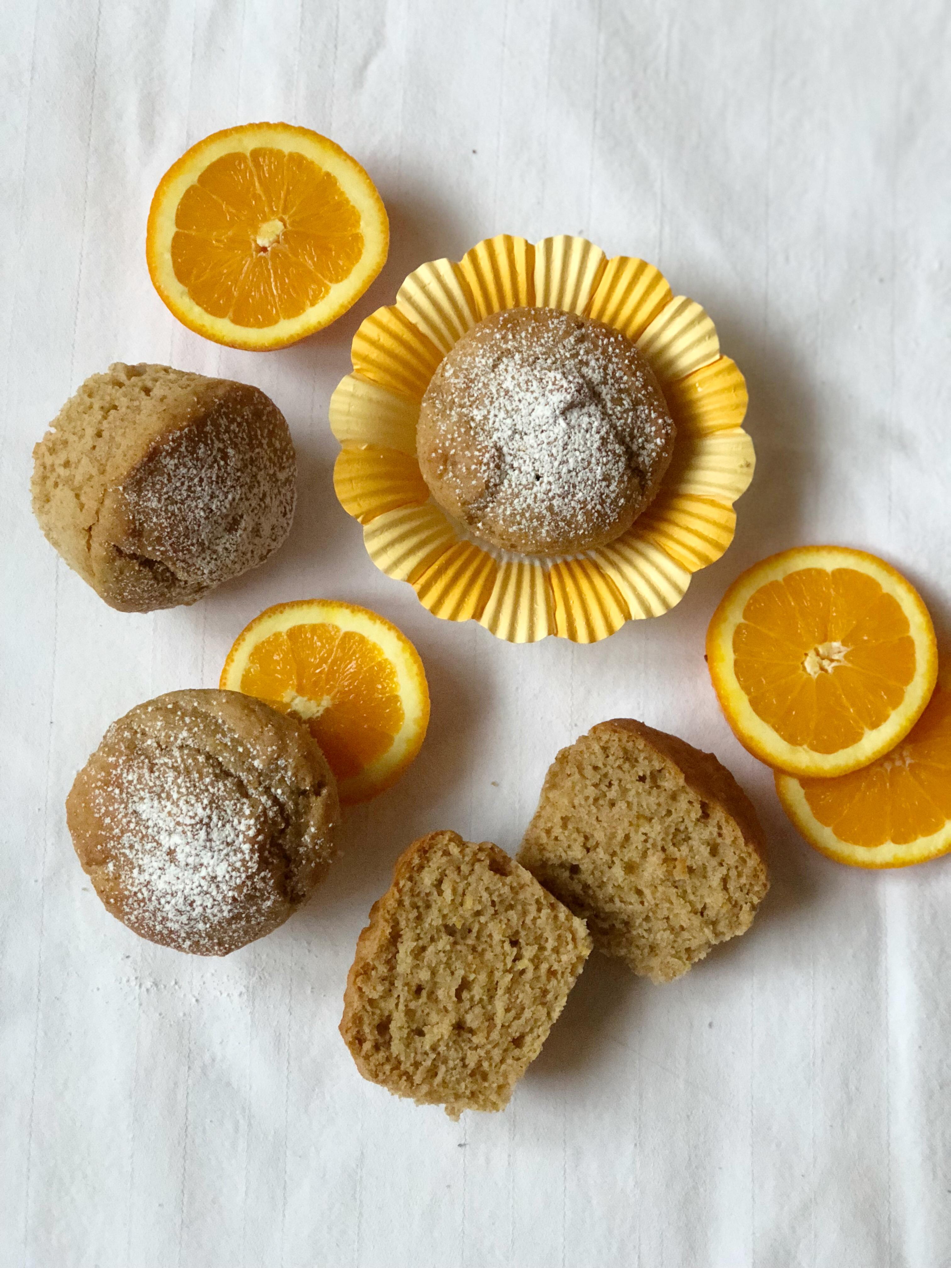 I Muffin Senza Burro Arancia e Cannella leggeroi e golosi di dolci senza burro
