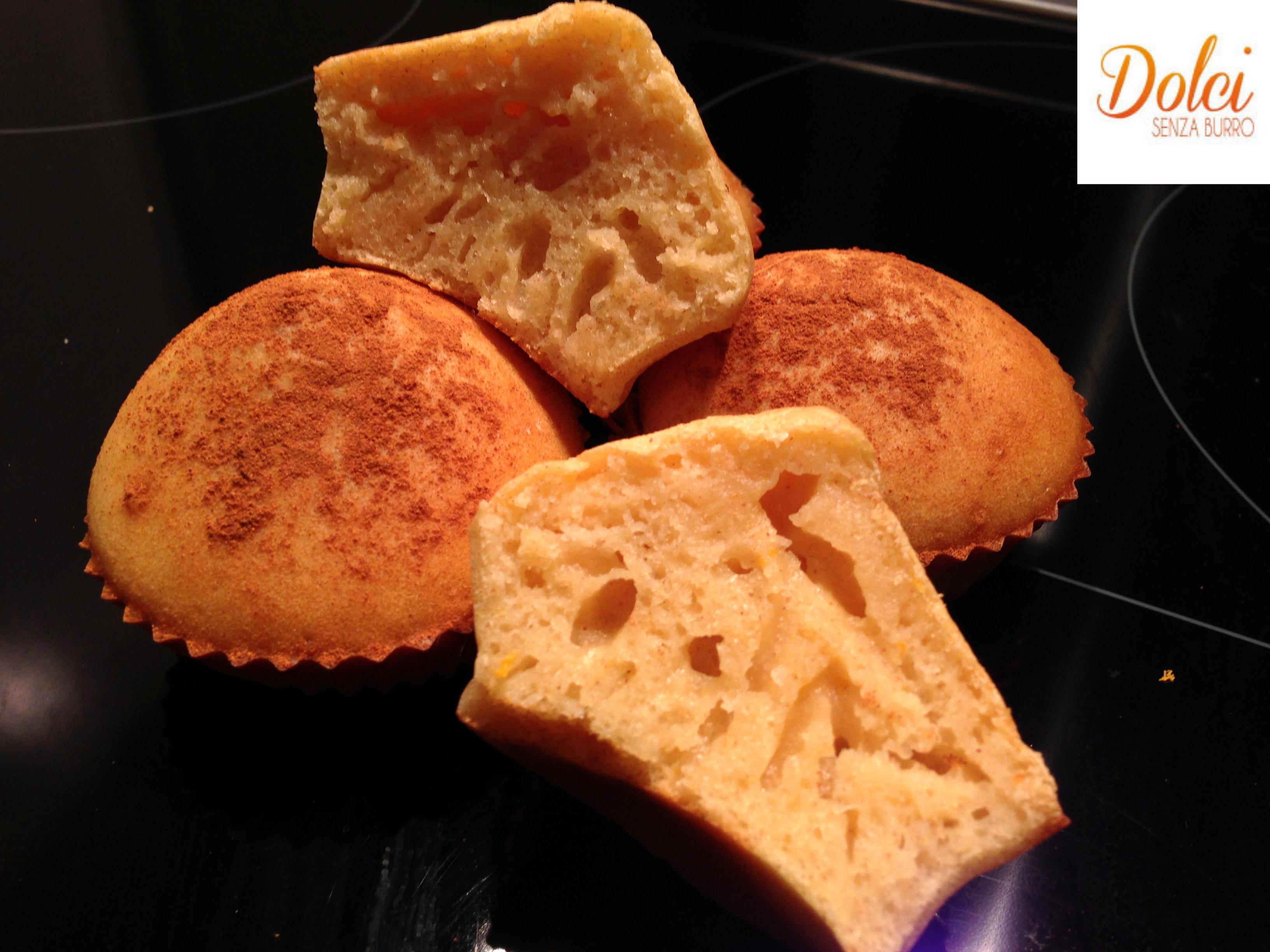 Muffin Senza Burro all'arancia e cannella , il dolce senza lattosio di Dolci Senza Burro