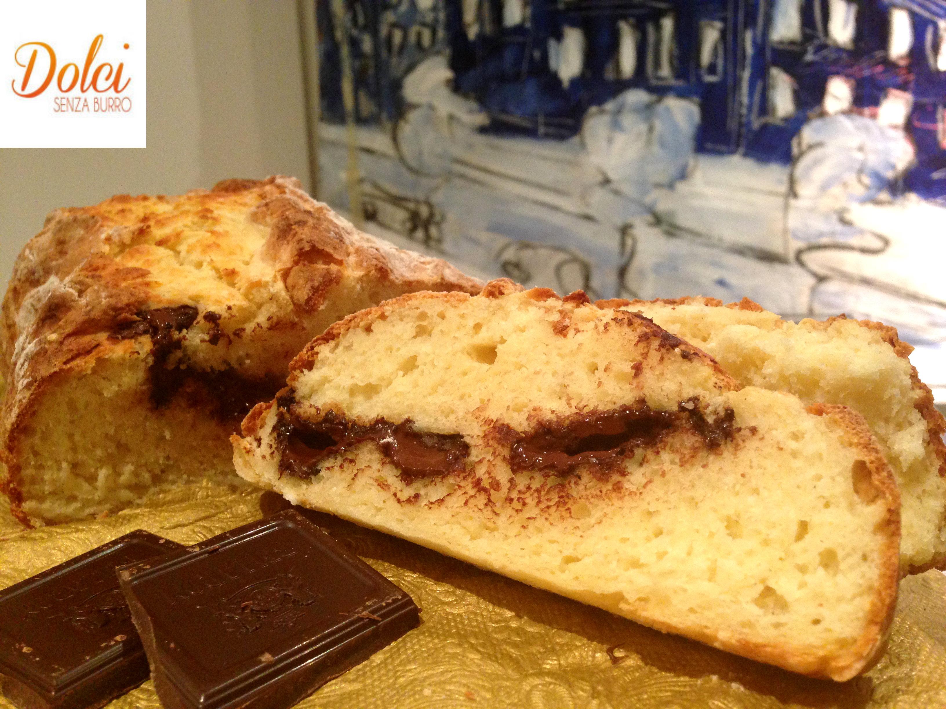 Pan Brioche Senza Burro alla Ricotta e cioccolato un dolce goloso di Dolci Senza Burro
