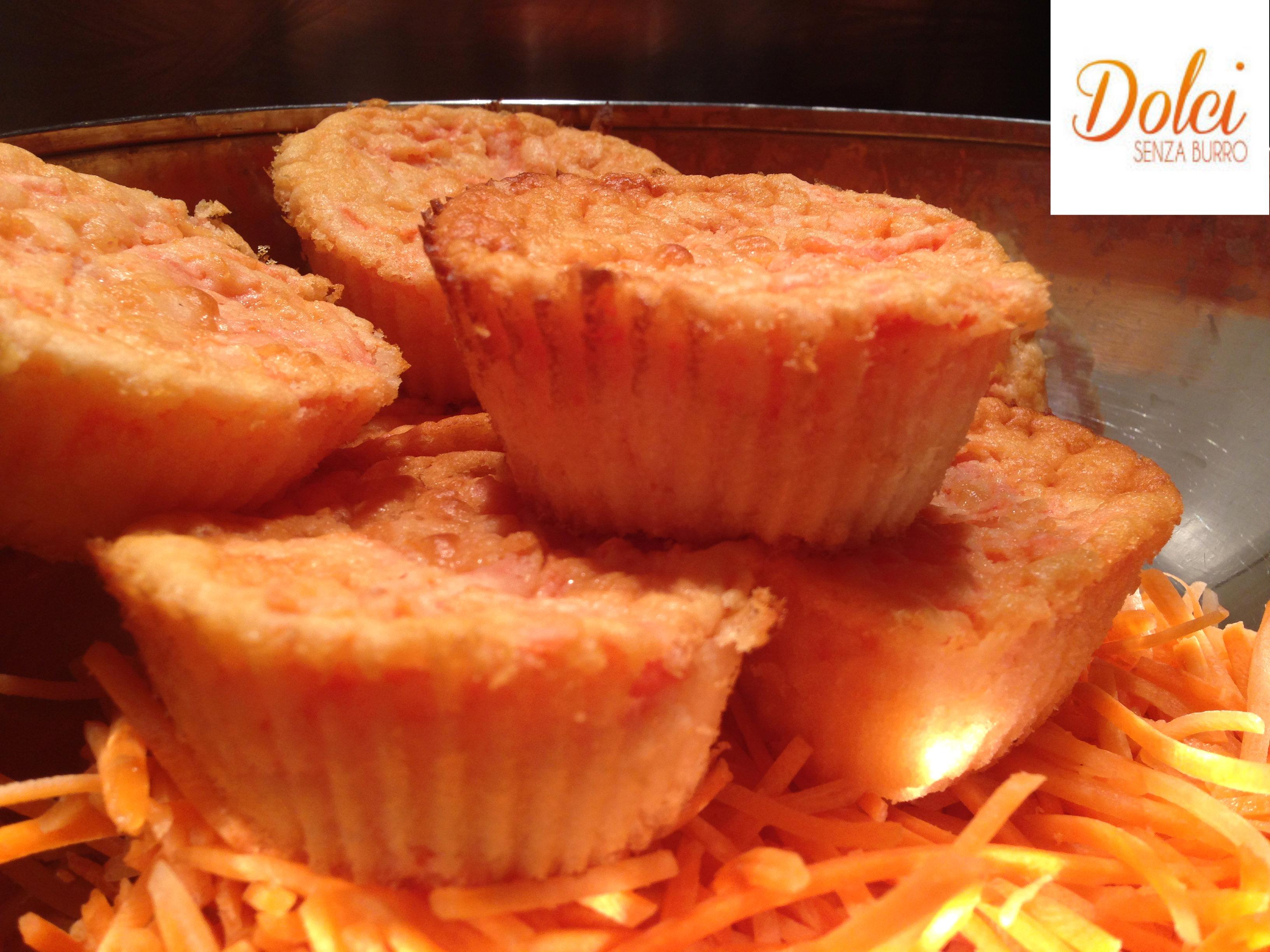 Muffin alle Carote Senza Burro, dolci senza glutine e lattosio di Dolci Senza Burro