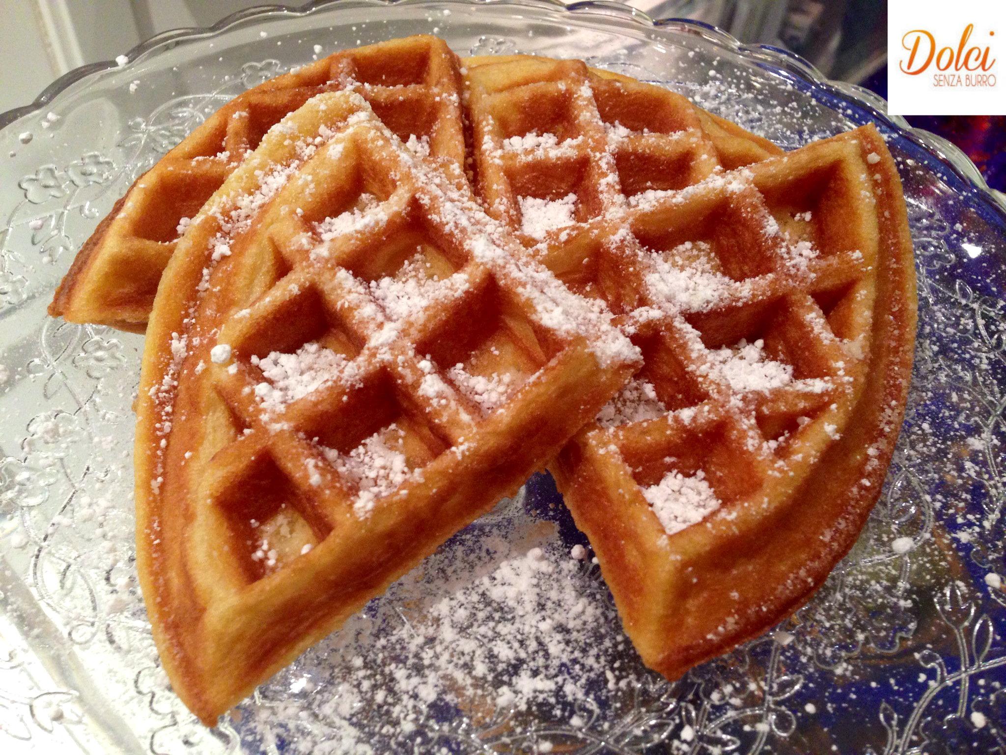 Waffle senza burro dolci senza burro for Nuove ricette dolci