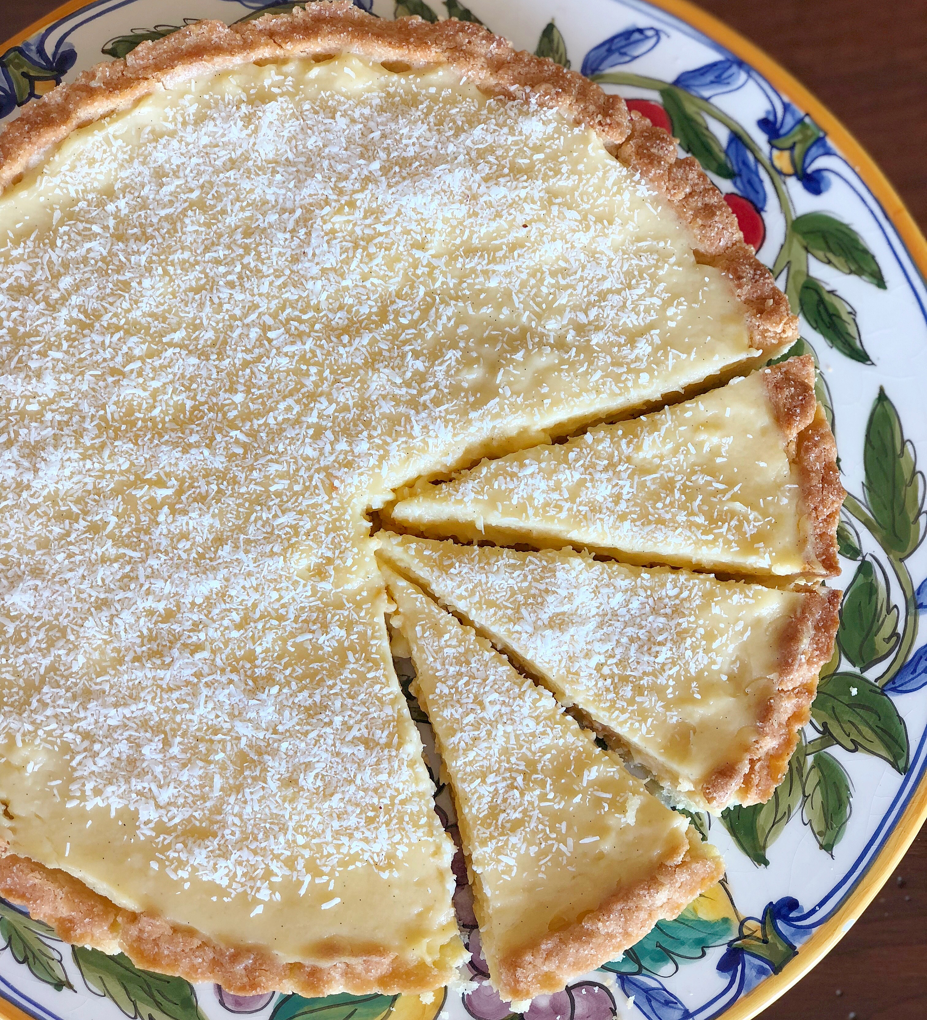 Crostata Limone e Cocco Senza Burro, un dolce dal sapore delicato e goloso di dolci senza burro