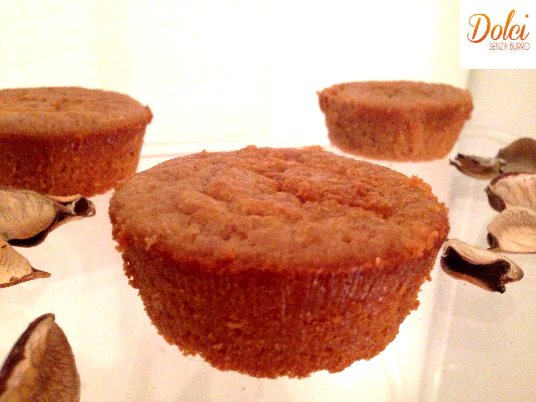 Muffin al Kamut e Zenzero Senza Burro , il dolce leggero di Dolci Senza burro