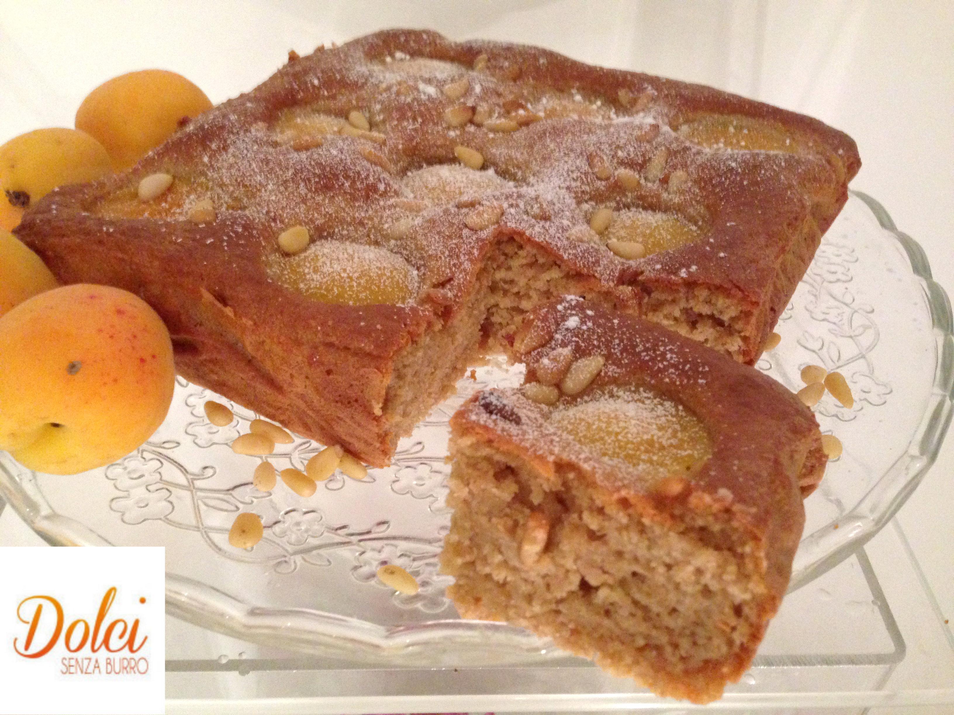 Torta di albicocche al kamut senza burro, il dolce senza lattosio di dolci senza burro