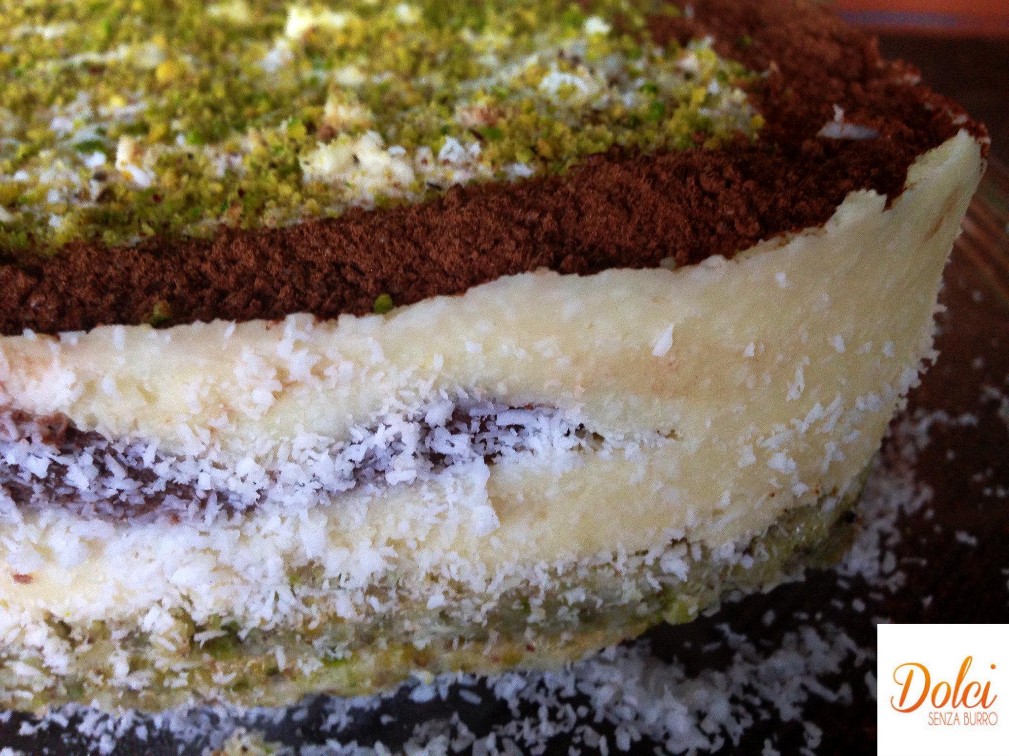 Semifreddo al Cocco e Pistacchio Senza Lattosio il dolce light di Dolci Senza Burro