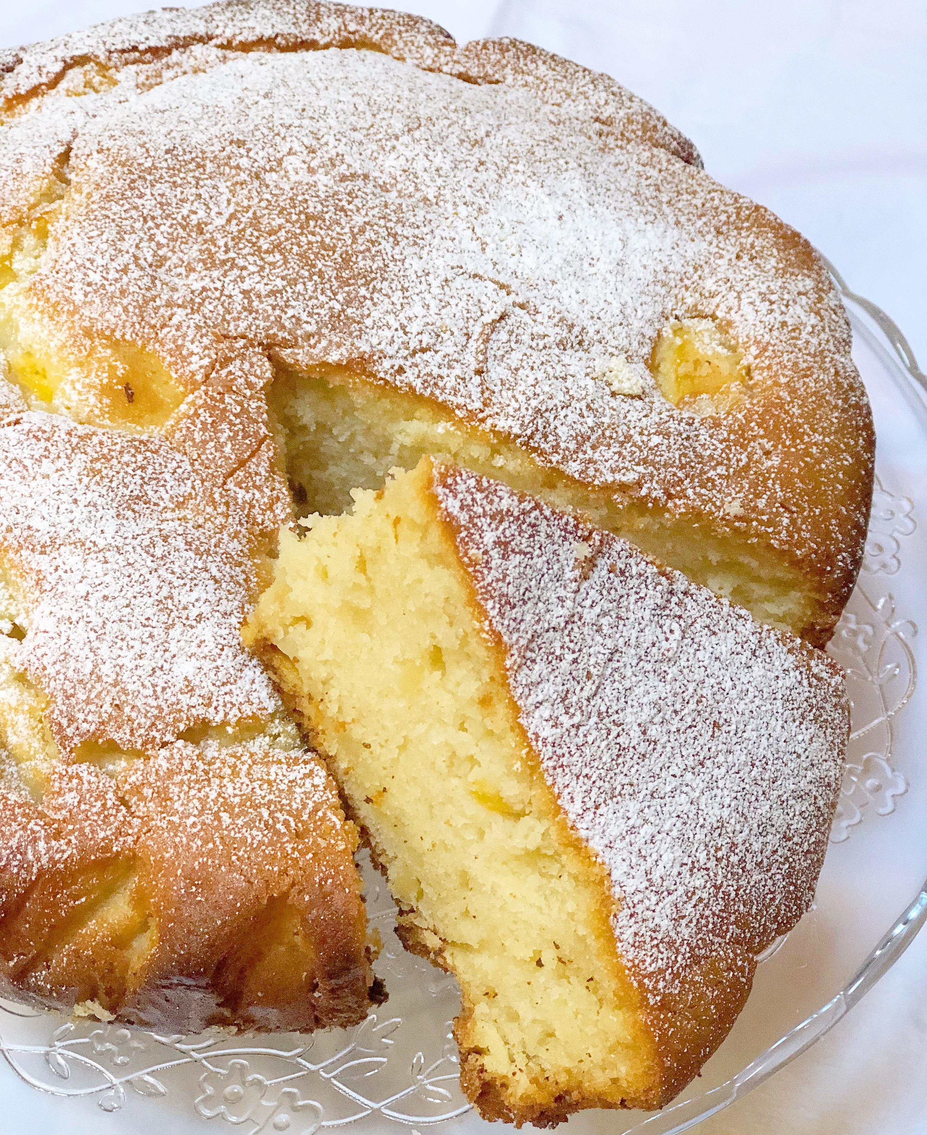 Torta Pesche e Mandorle Senza Burro, golosa e speciale di dolci senza burro
