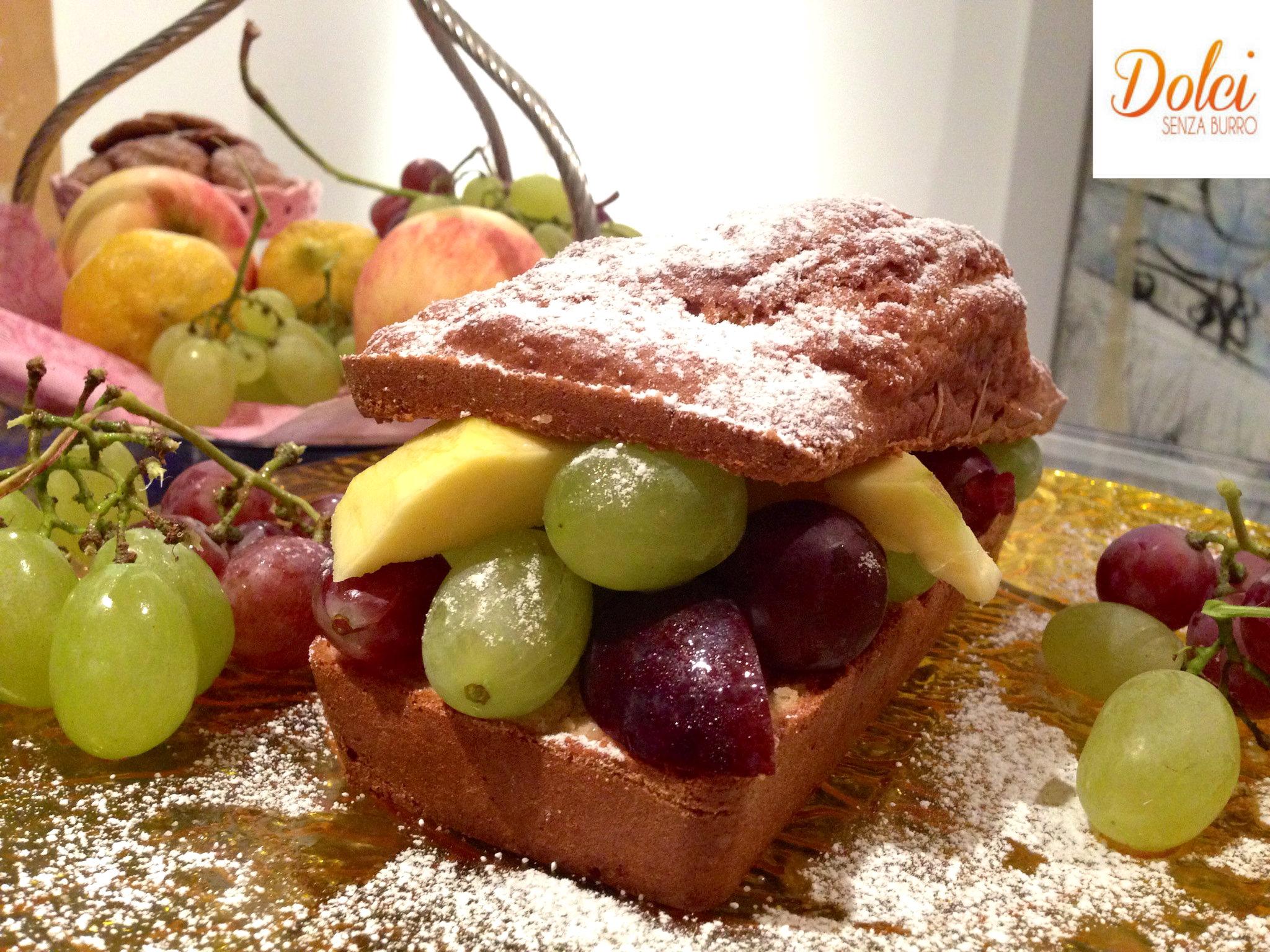 Plumcake alla Frutta Senza Burro, la torta senza lattosio golosa con frutta fresca di Dolci Senza Burro