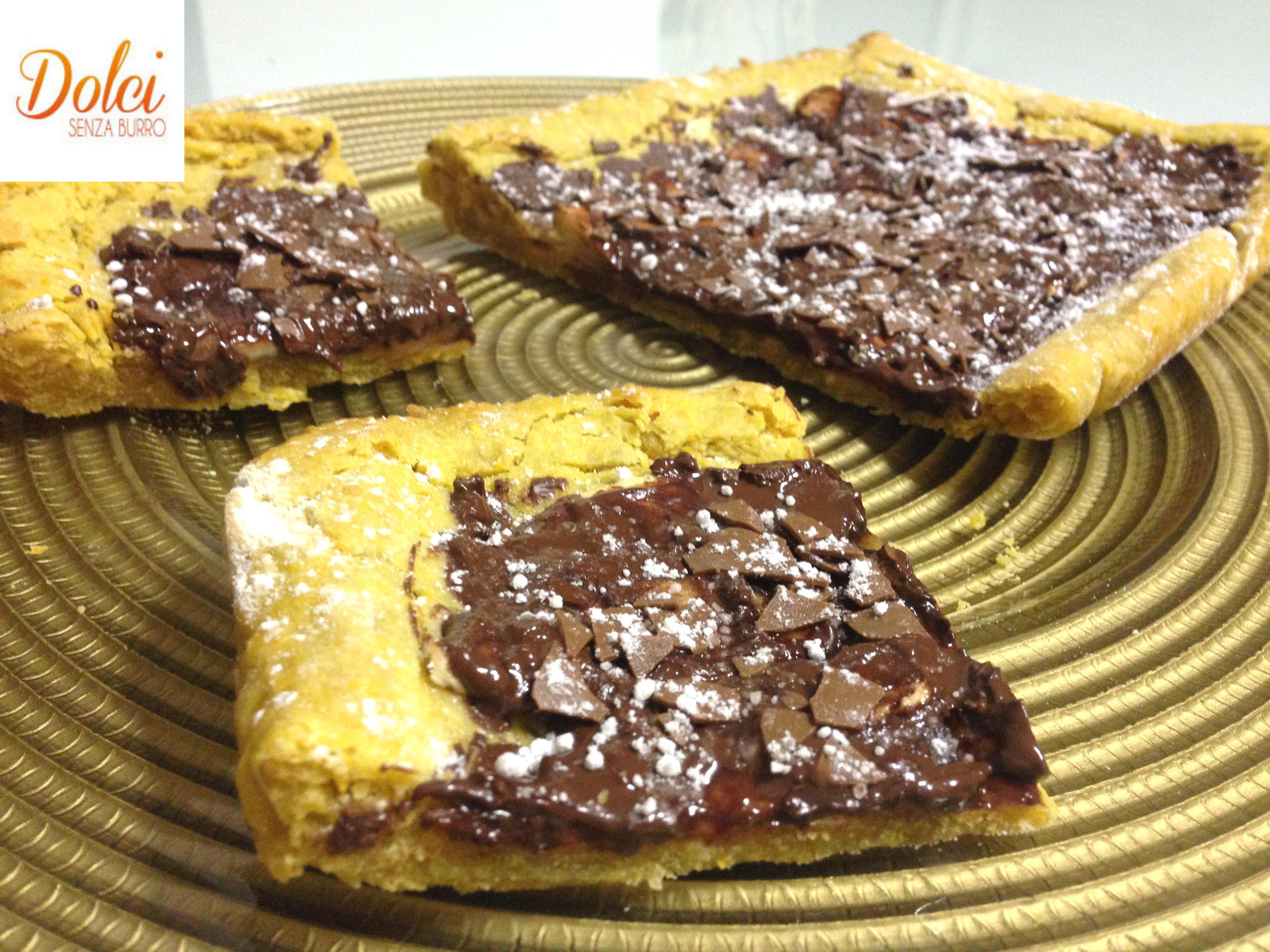 Crostata di Zucca Mele e Cioccolato Senza Burro - Dolci Senza Burro