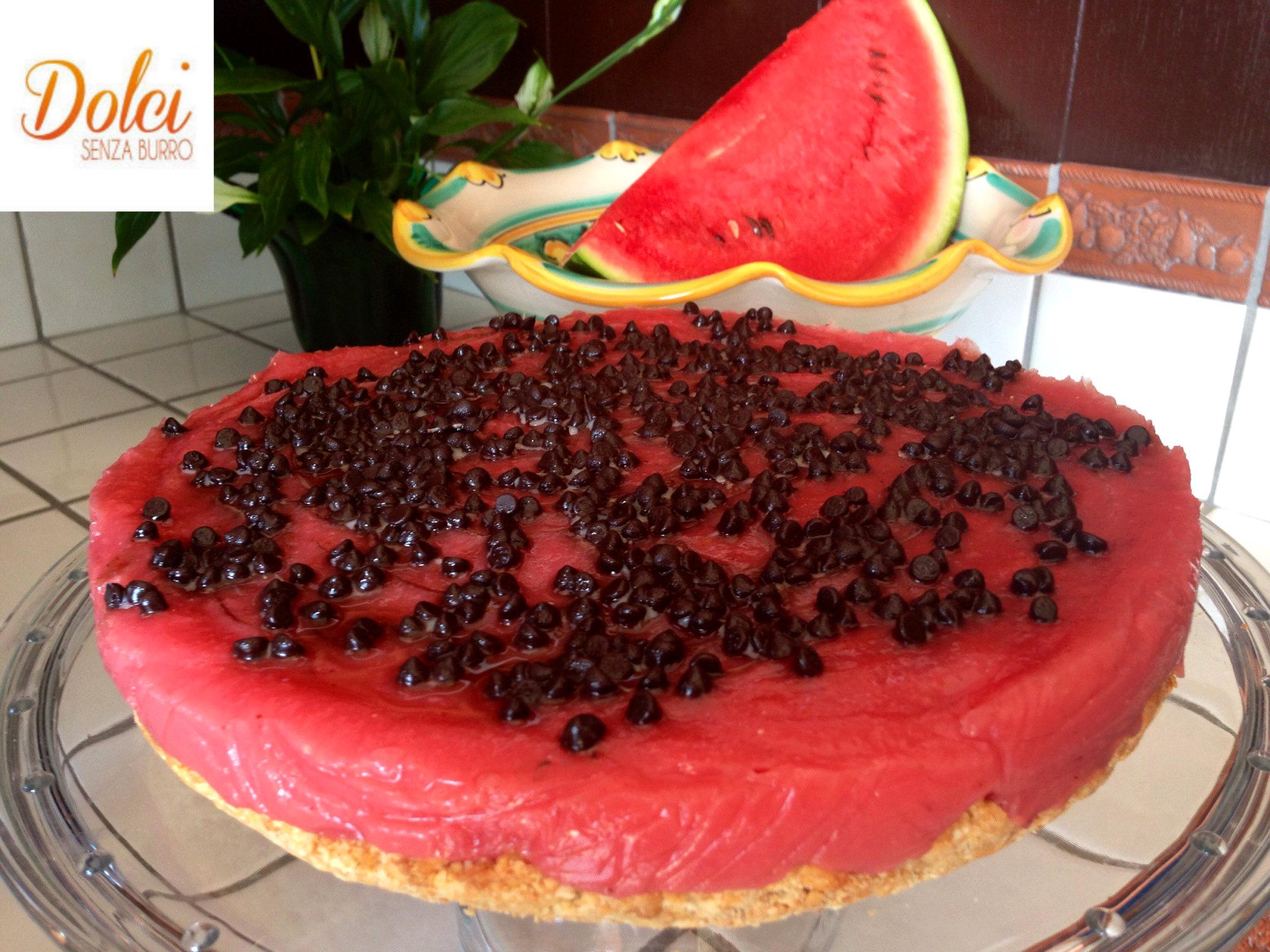Gelo di anguria su frolla senza burro, la versione originale del dolce siciliano di dolci senza burro