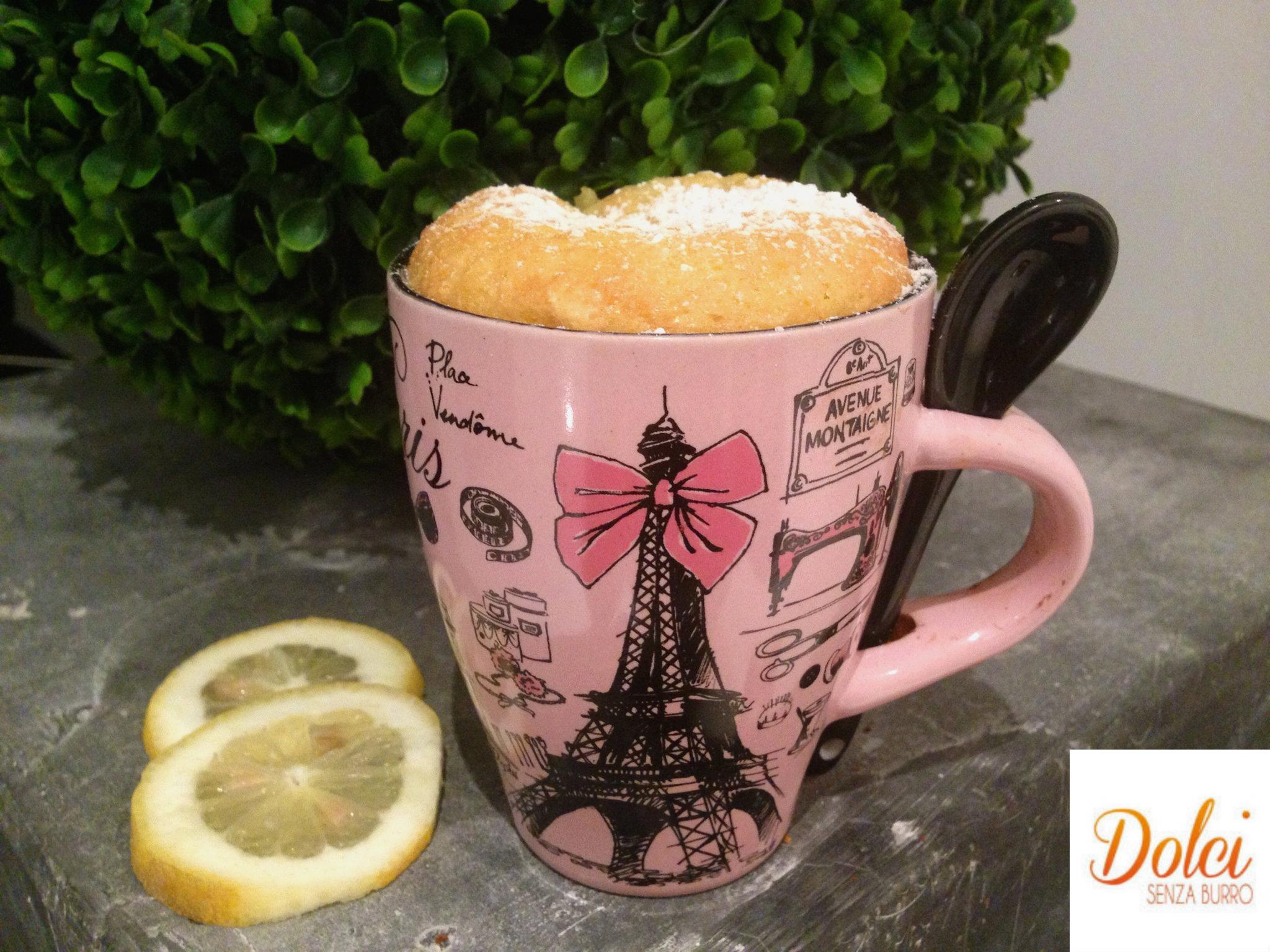 Lemon Mug Cake Senza Burro, la torta in tazza di dolci senza burro