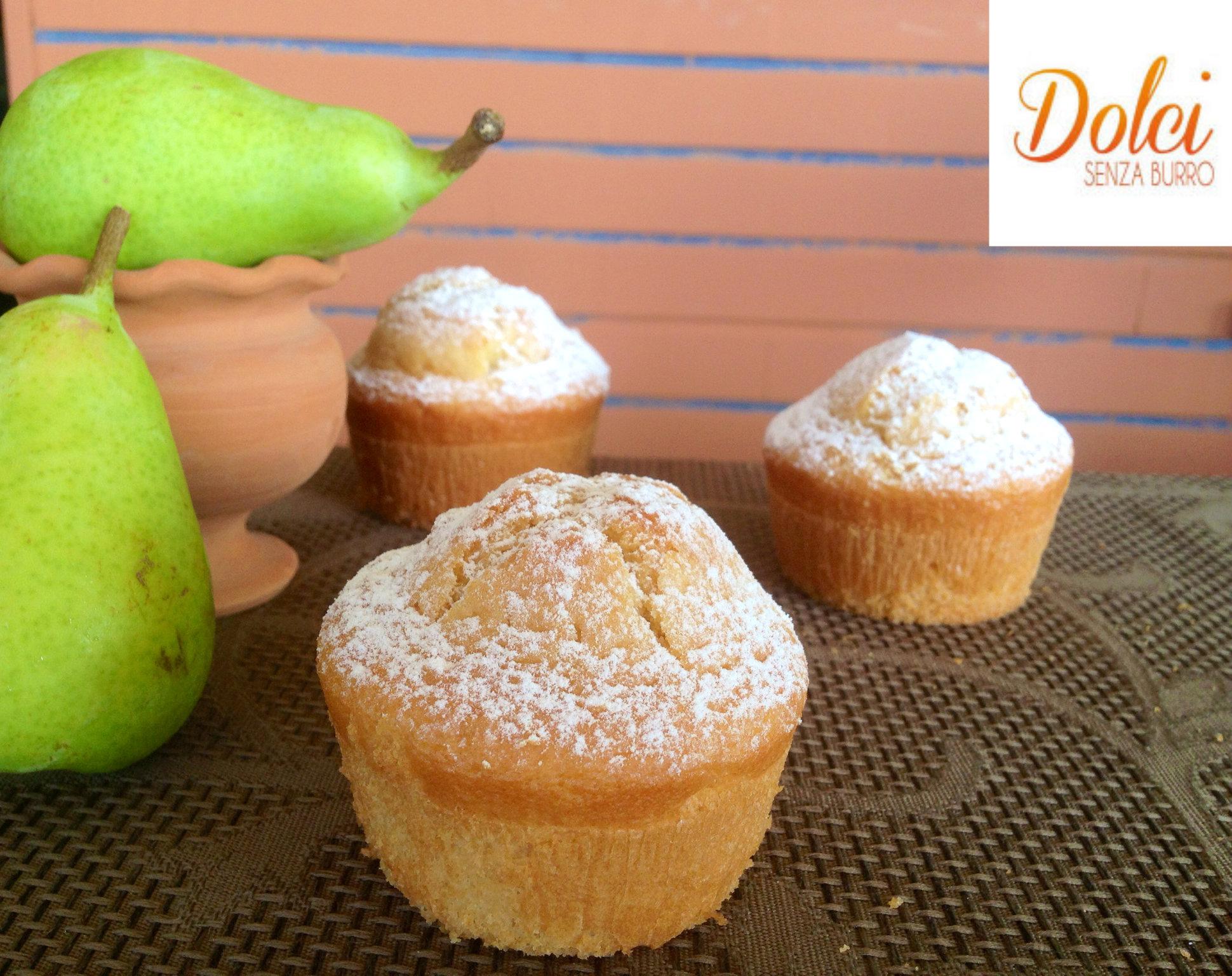 Muffin alle Pere senza burro e uova, la merenda leggera di dolci senza burro