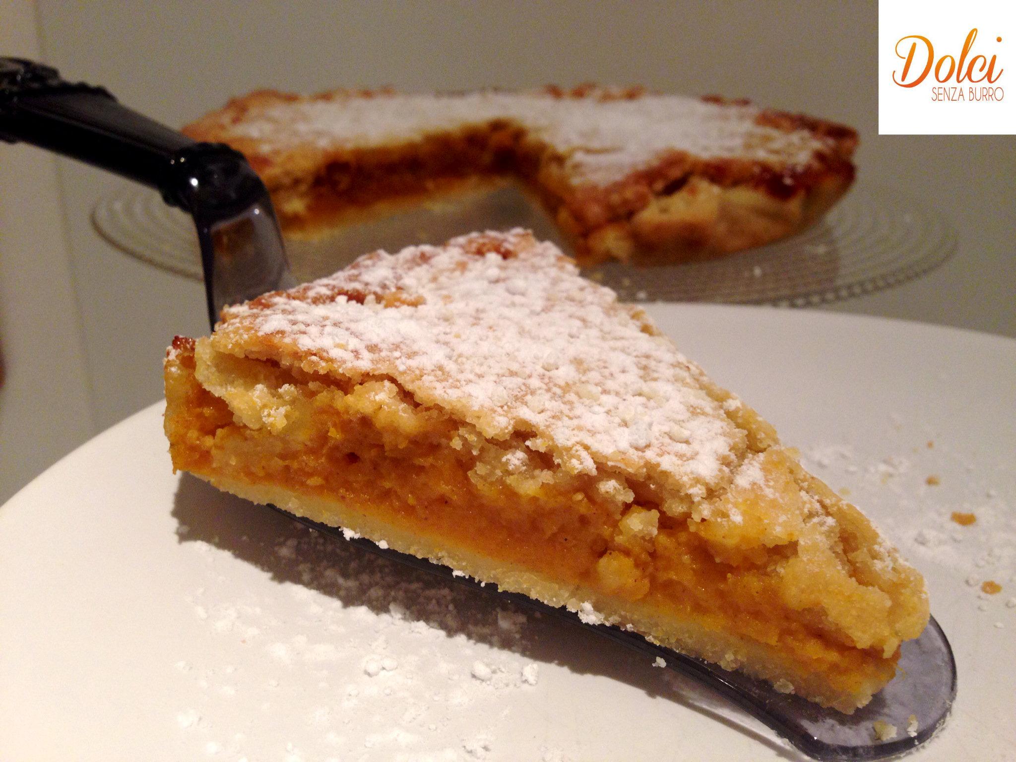 Pumpkin Pie Senza Burro, la torta di zucca senza lattosio e uova di dolci senza burro