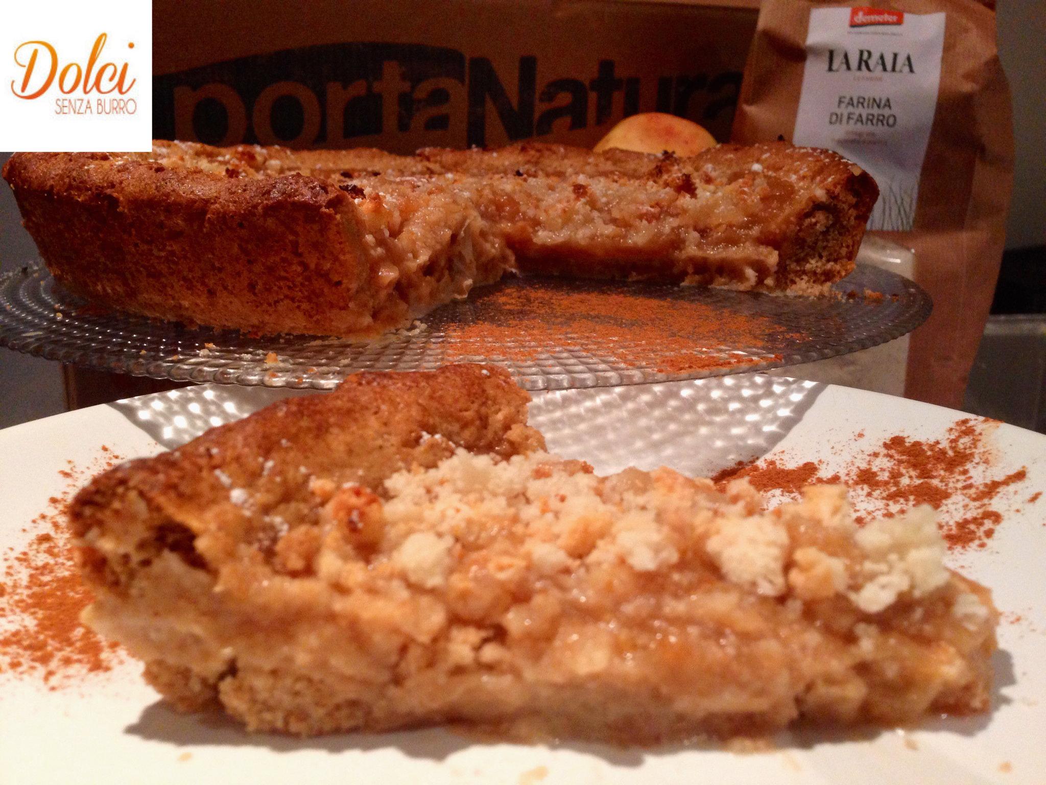 La Crostata di Farro Senza Burro alle Mele è un dolce senza lattosio e senza uova di dolci senza burro.