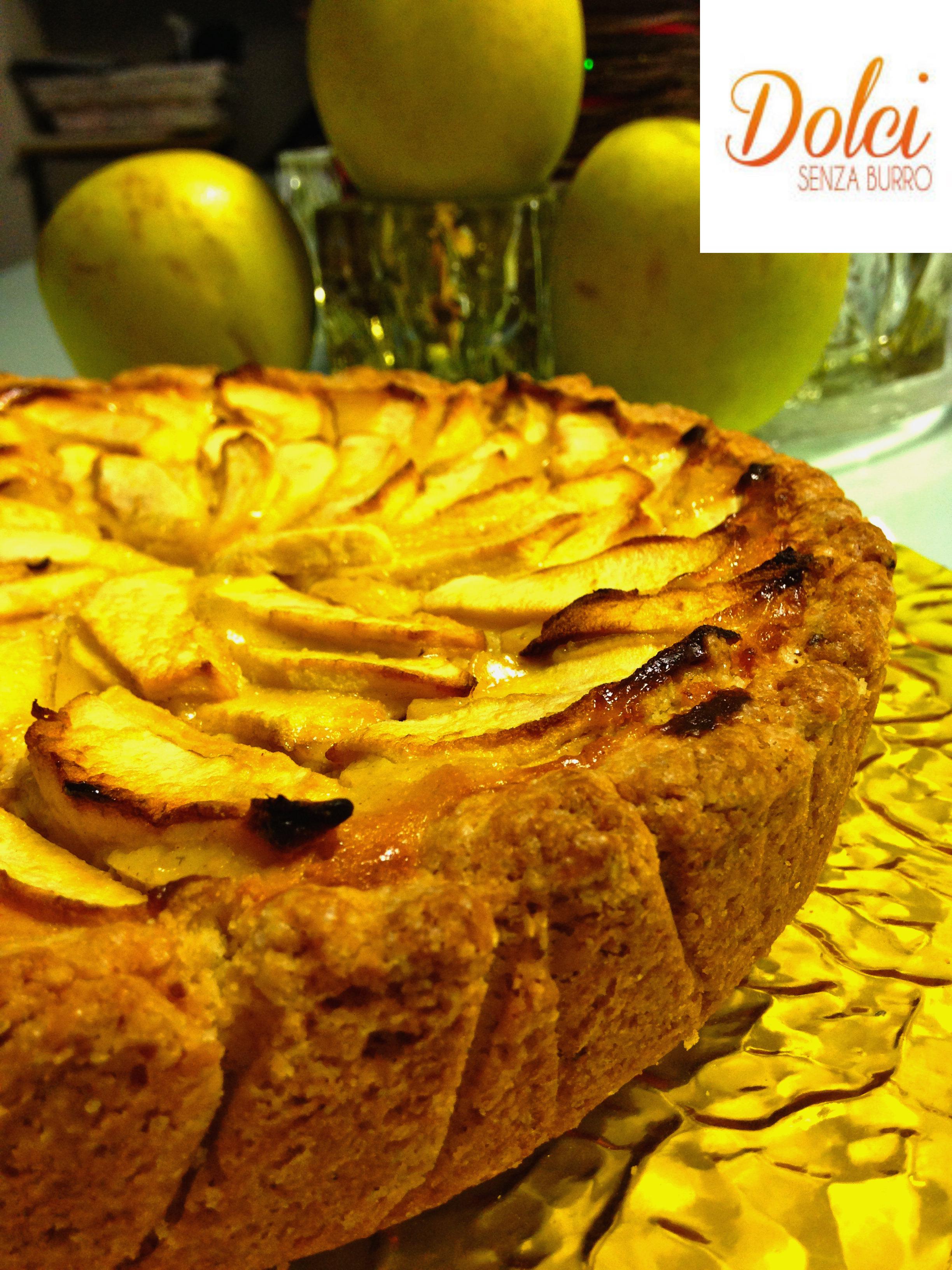 Crostata di Mele e Ricotta Senza Burro, il dolce alle mele speciale di dolci senza burro