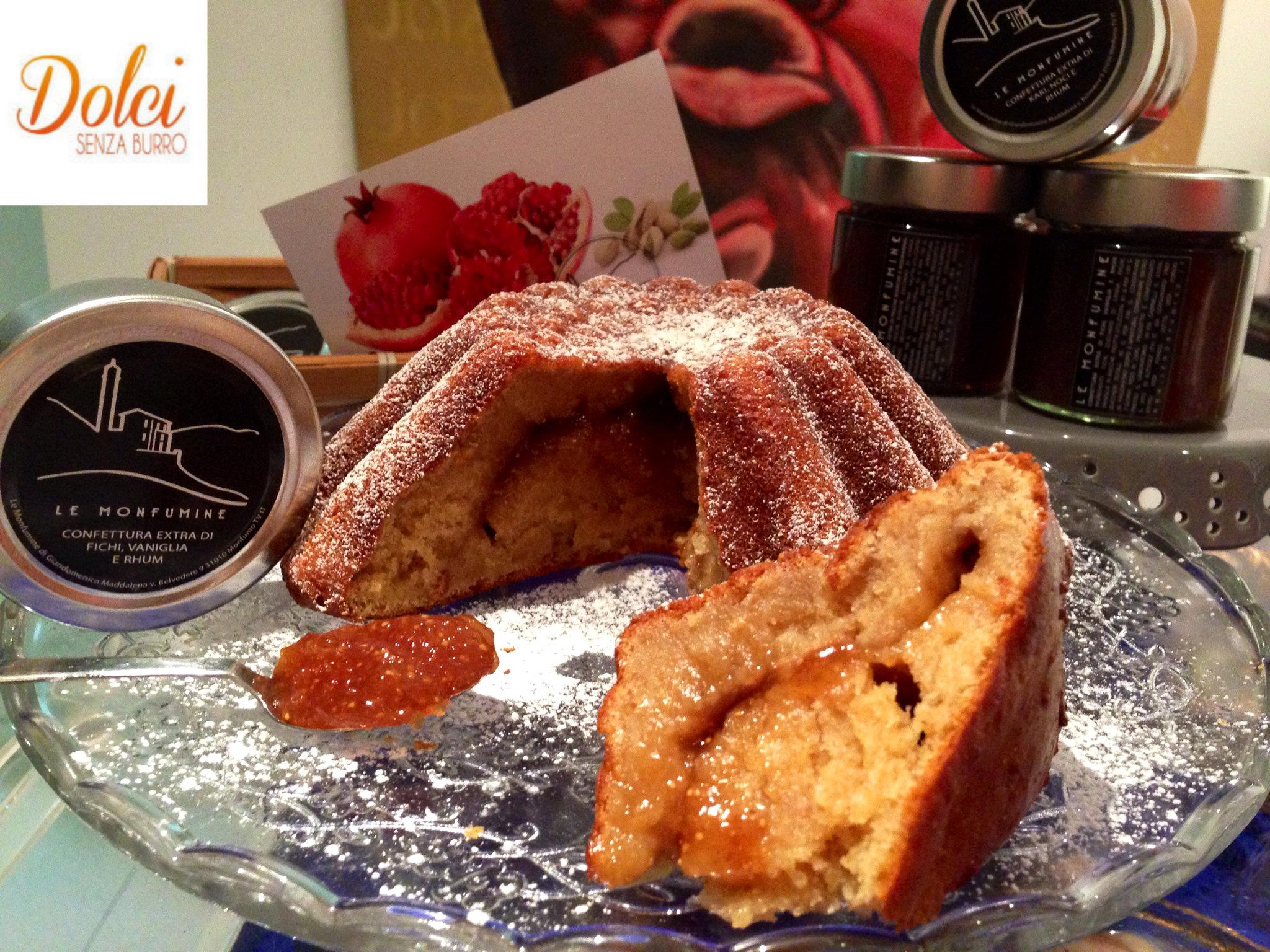 La Torta di Grano Saraceno Senza Burro, una torta senza glutine e lattosio farcita con marmellata di dolci senza burro