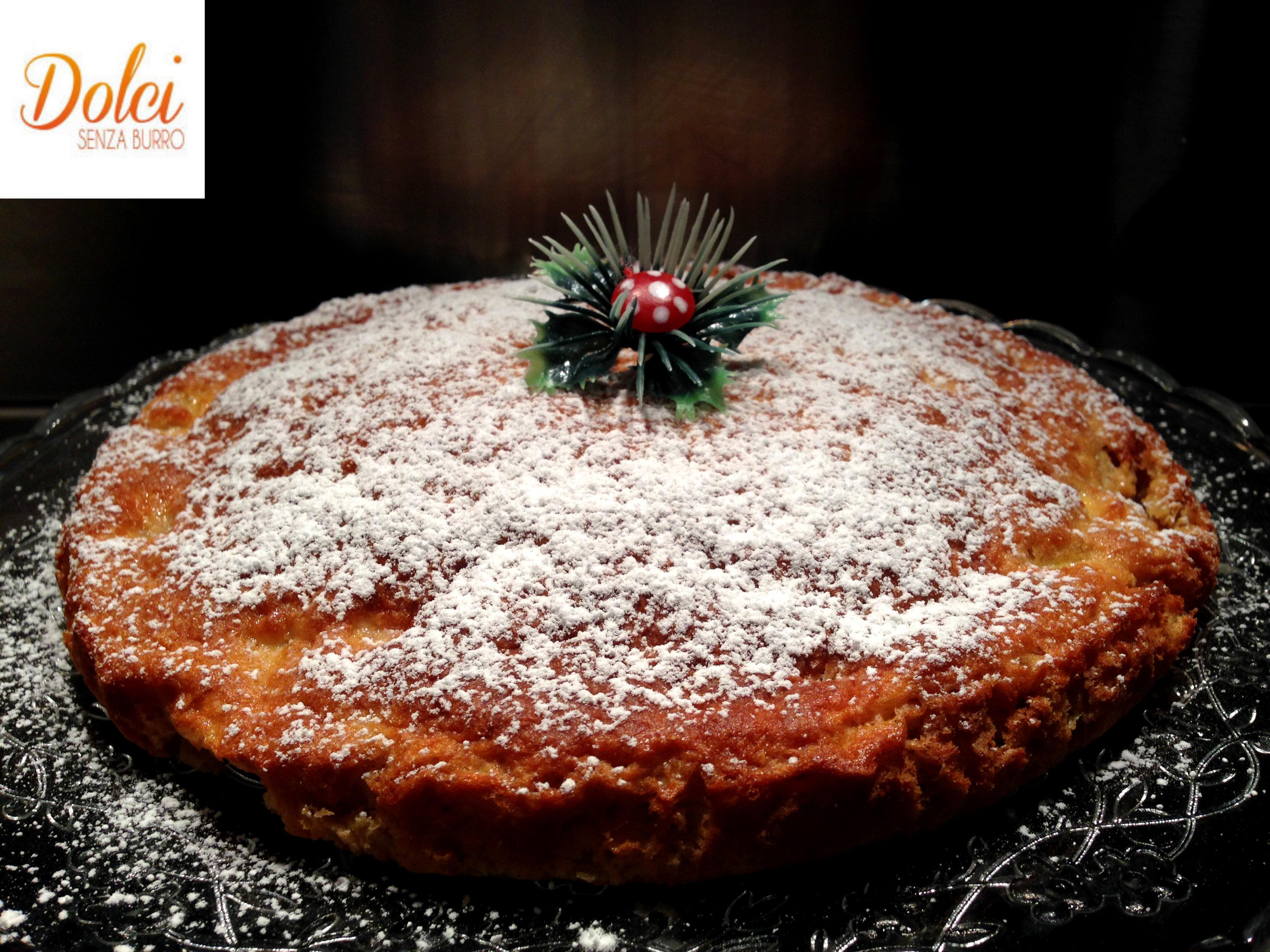 Una Torta di Mele Senza Burro grattugiate, un dolce di mele light di dolci senza burro