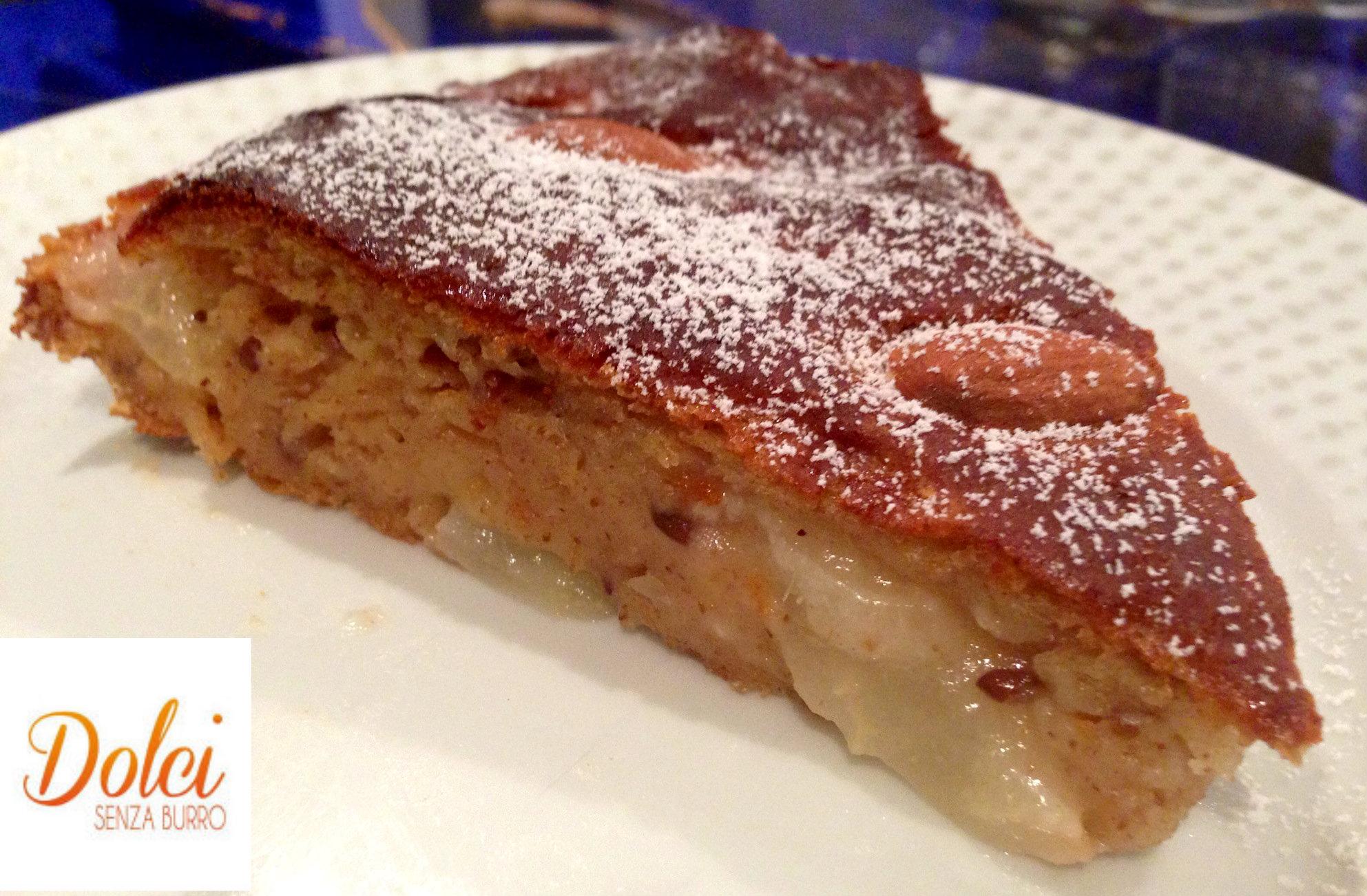 La Torta Senza Burro Pere e Zenzero il dolce senza uova e glutine di dolci senza burro