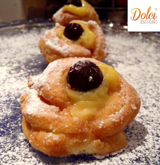 Zeppole di San Giuseppe, i famosi dolci tradizionali al forno o fritti di dolci senza burro