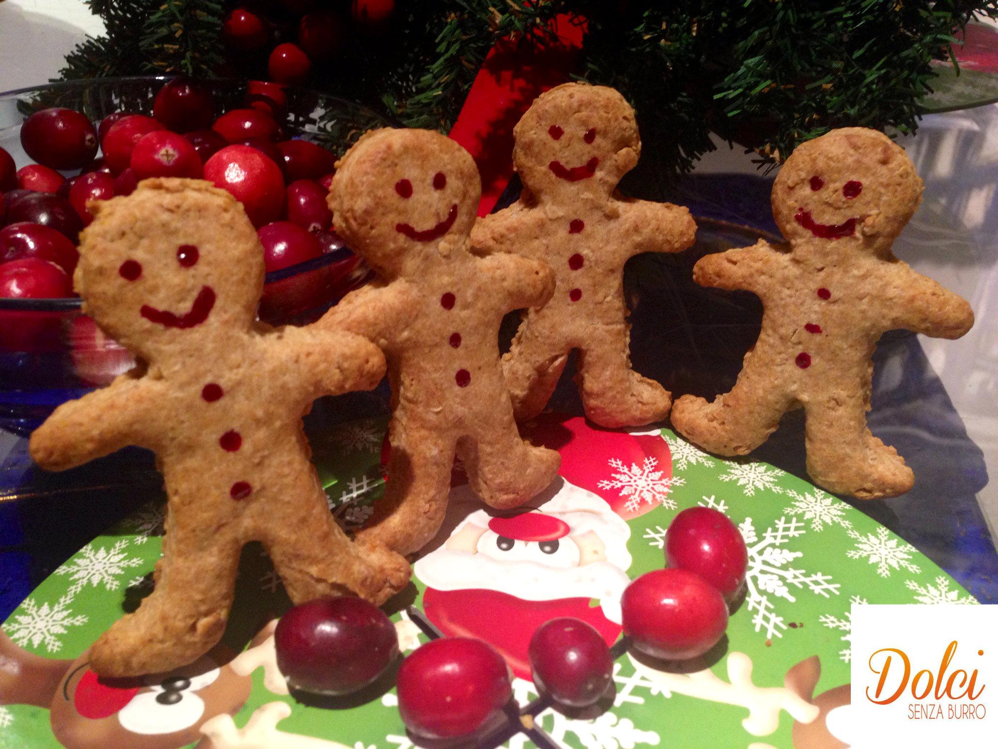 Biscotti al pan di zenzero senza burro, i biscotti di Natale di dolci senza burro