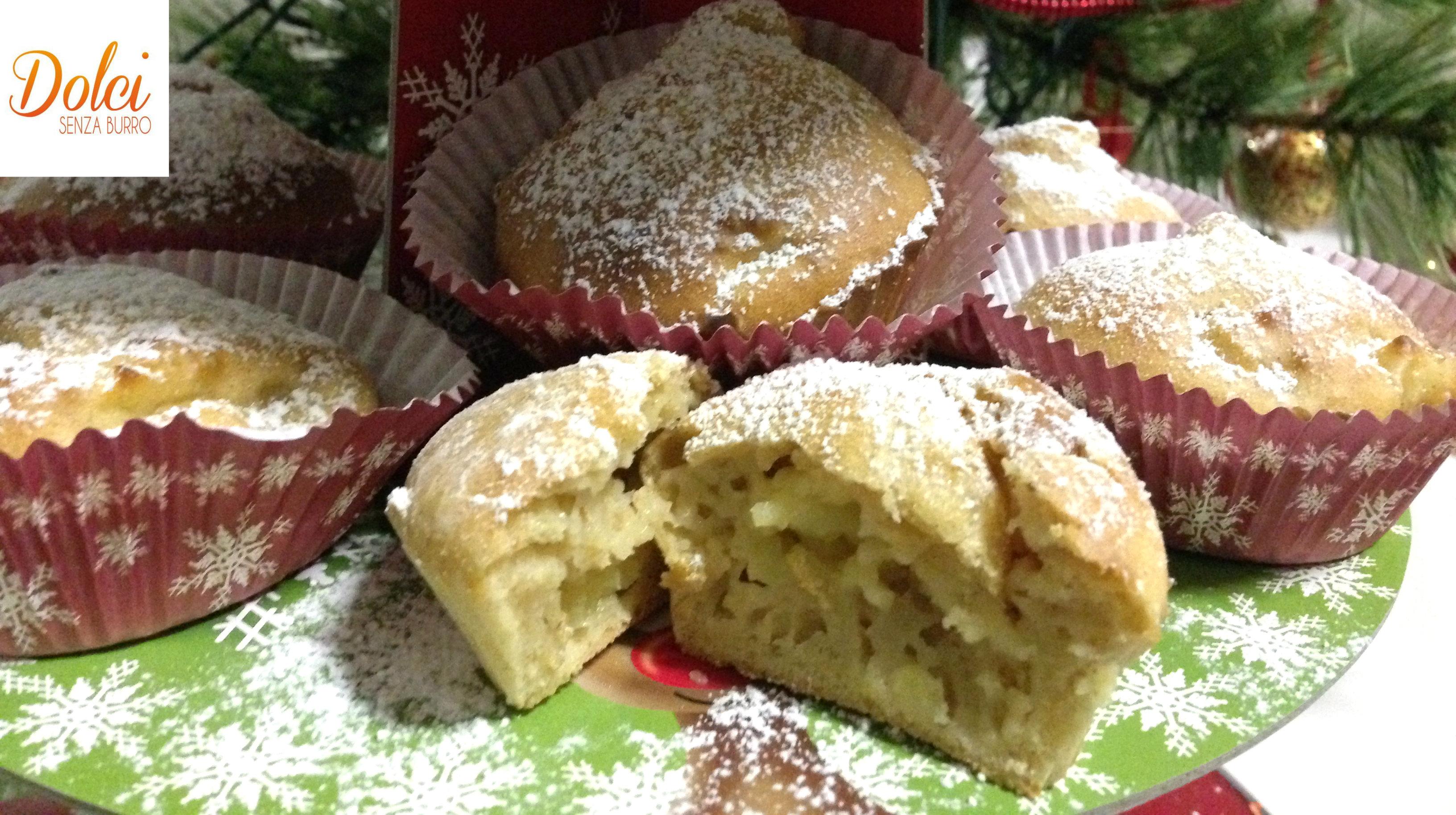 Muffin alle Mele Senza Burro, un dolce senza lattosio e senza uova di dolci senza burro