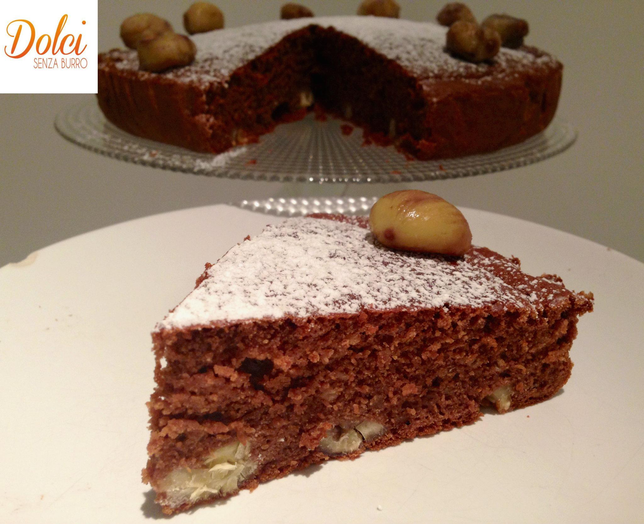 torta di castagne senza burro, il dolce con le castagne goloso di dolci senza burro
