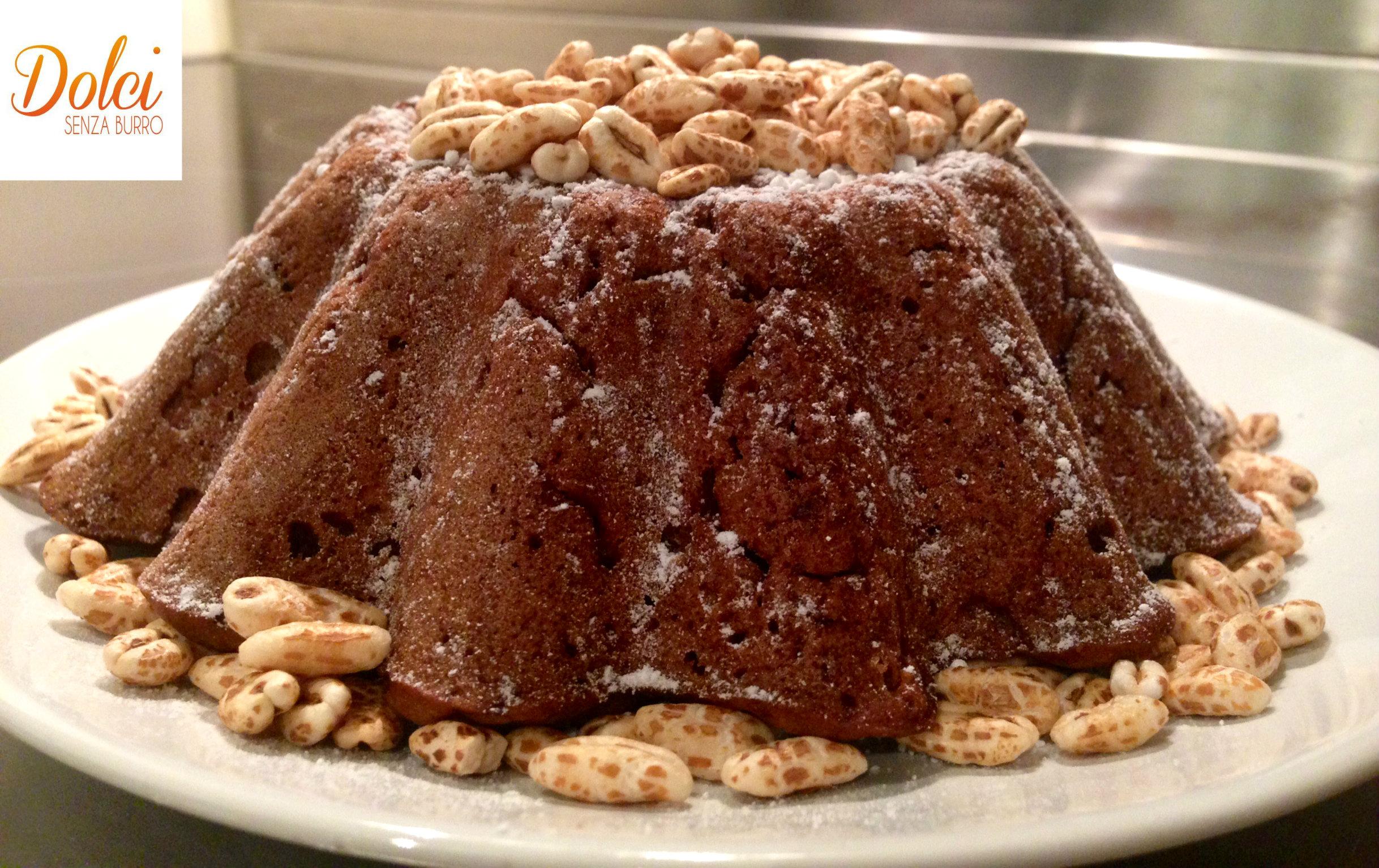 torta di orzo e cioccolato senza burro, il dolce senza uova e lattosio di dolci senza burro