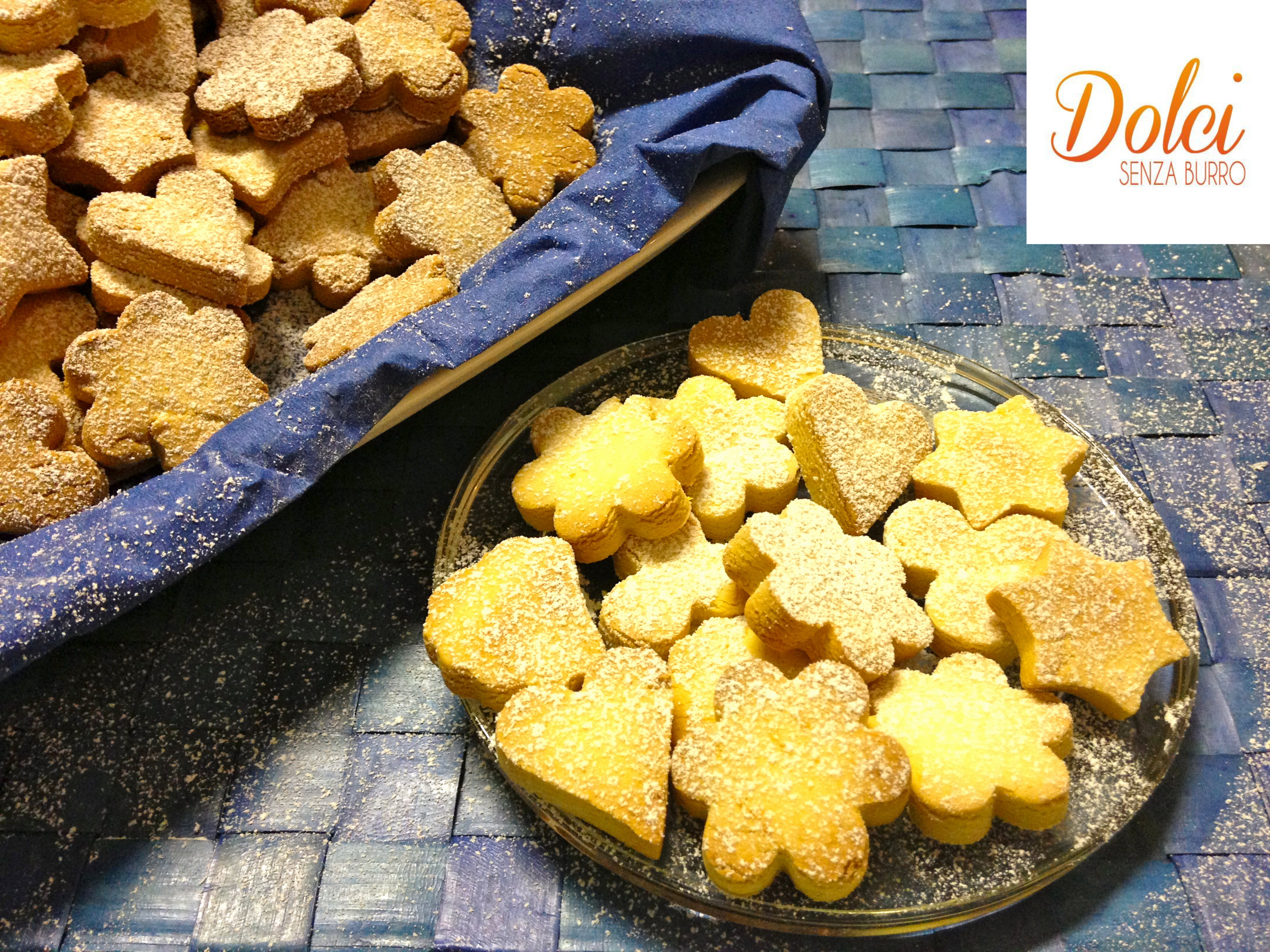 Biscotti con Farina di Riso Senza Burro friabili leggeri e golosi di dolci senza burro