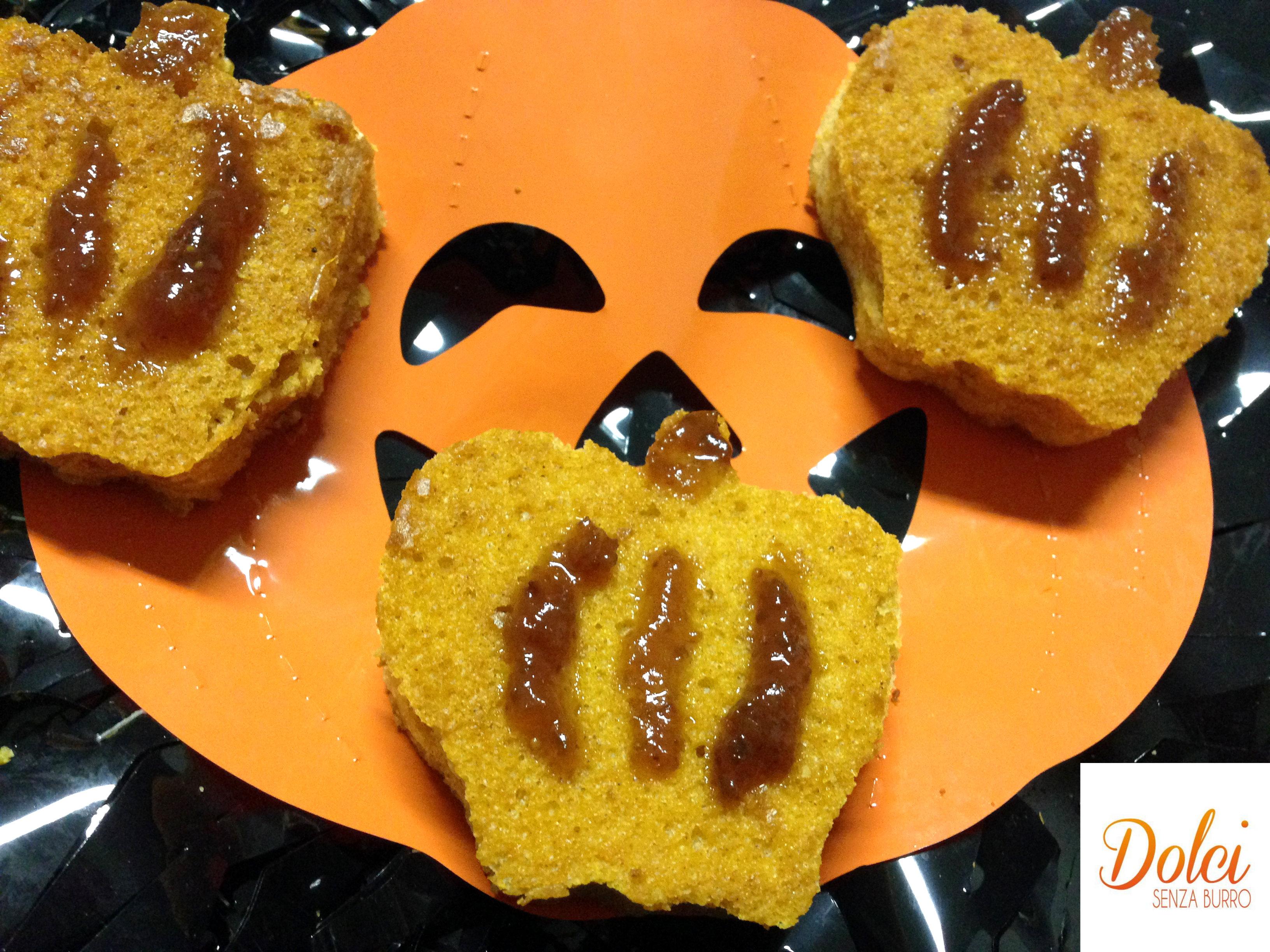 Dolci di Halloween, il dolce alla zucca di dolci senza burro