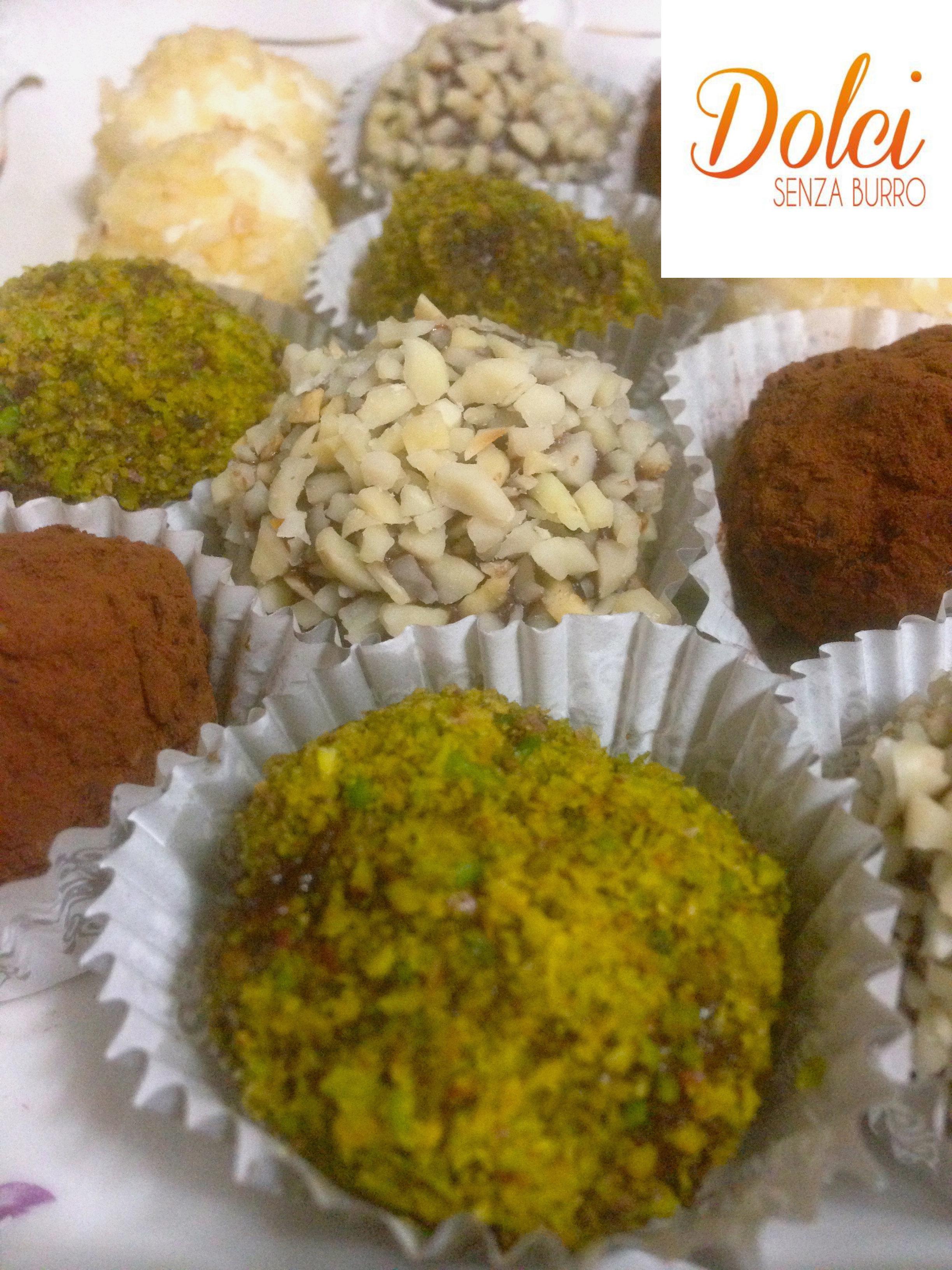I Tartufi al Cioccolato Senza Burro di dolci senza burro
