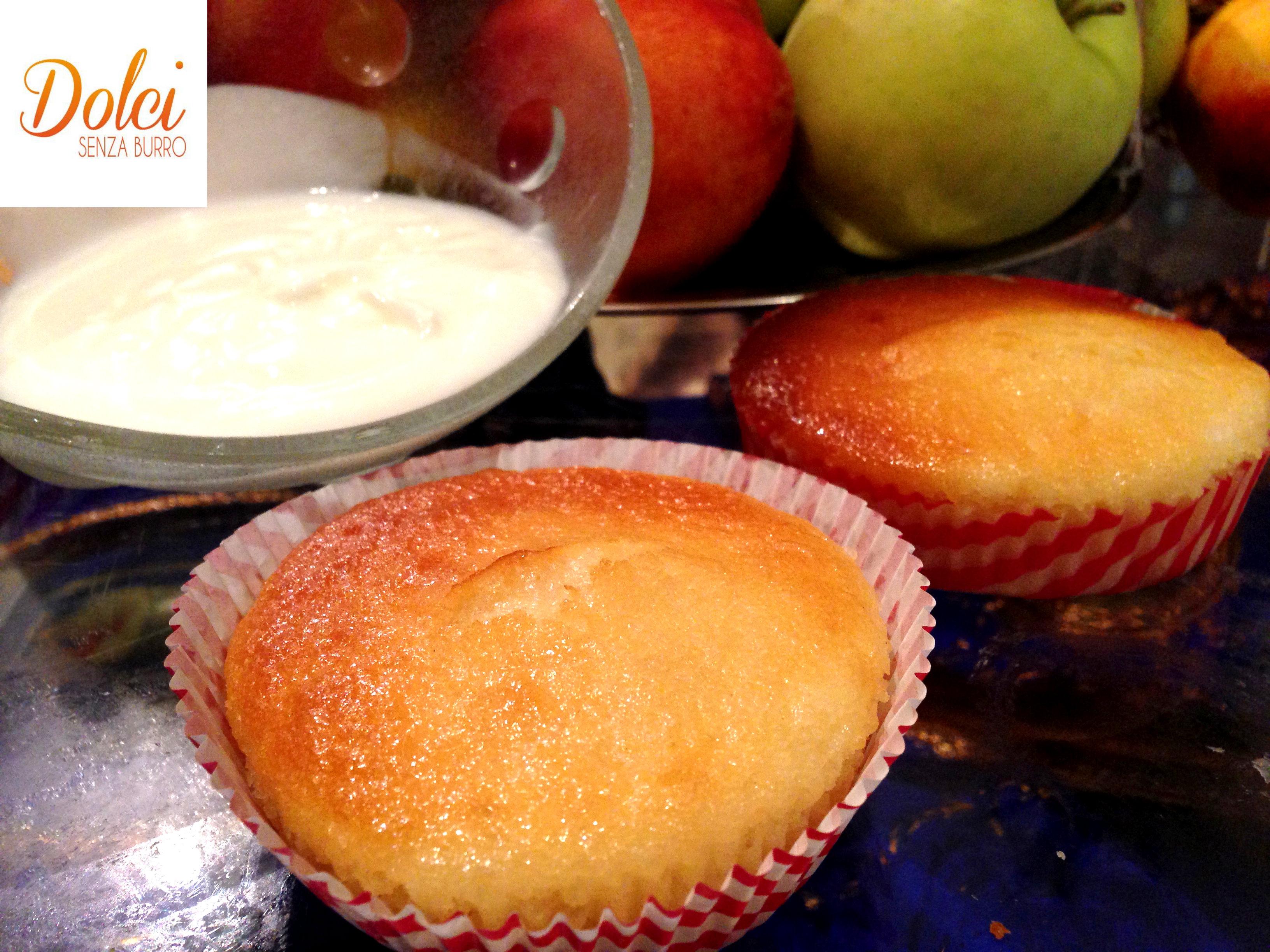 Le Tortine allo Yogurt Senza Burro sono dei Mini Cake sani genuini e leggeri di dolci senza burro
