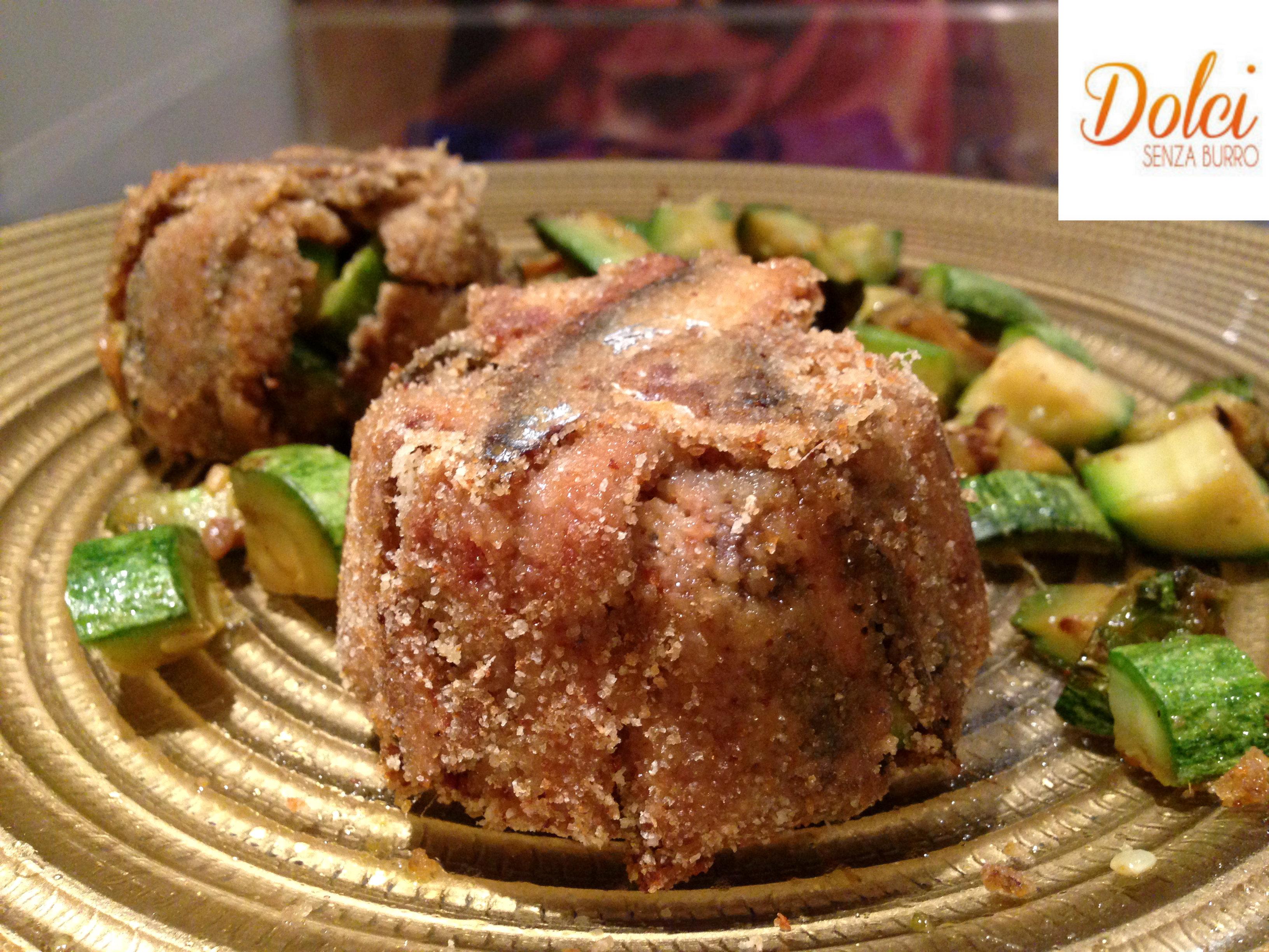 Tortino di Zucchine e Alici, un piatto facile e veloce da realizzare di dolci senza burro