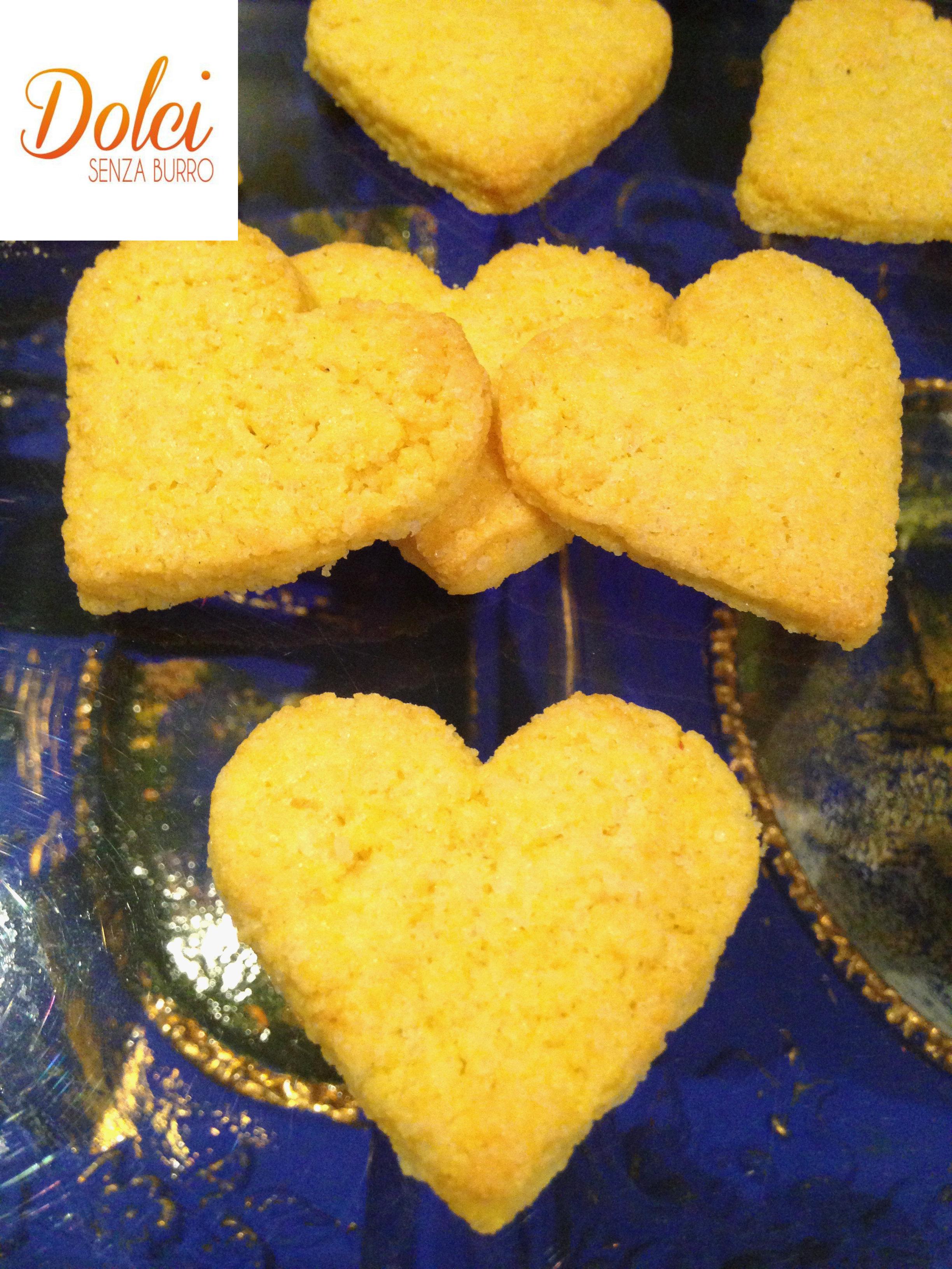 Biscotti con Farina di Mais Senza Burro , dei biscotti senza lattosio golosi e leggeri di dolci senza burro