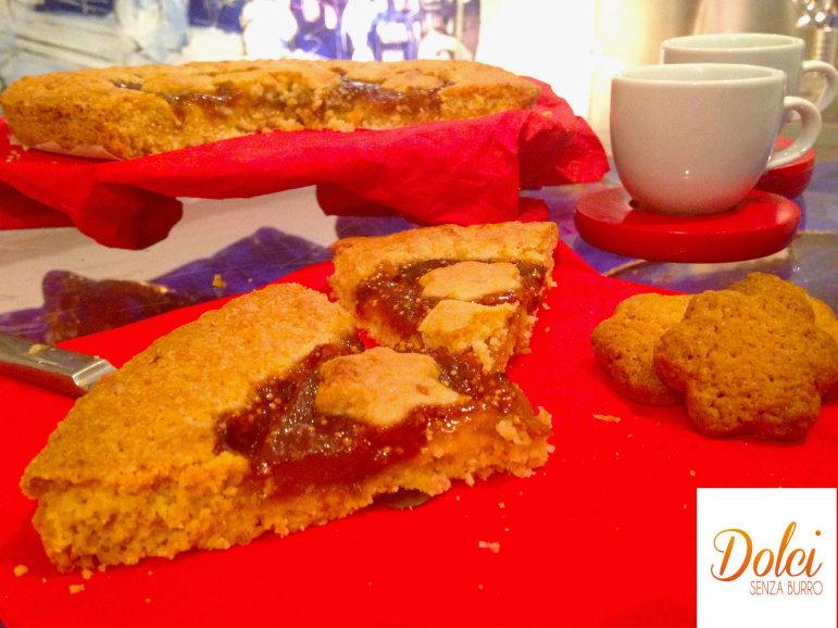Crostata con Marmellata di Fichi Senza Burro, la crostata senza lattosio di dolci senza burro