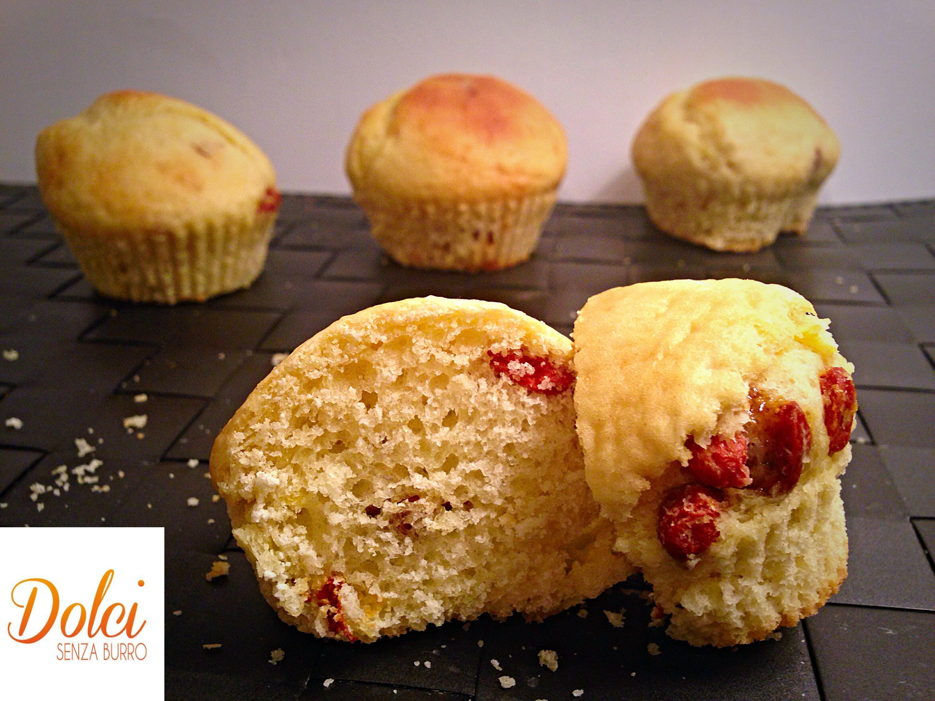 Muffin con Bacche di Goji Senza Burro leggeri e salutari di dolci senza burro