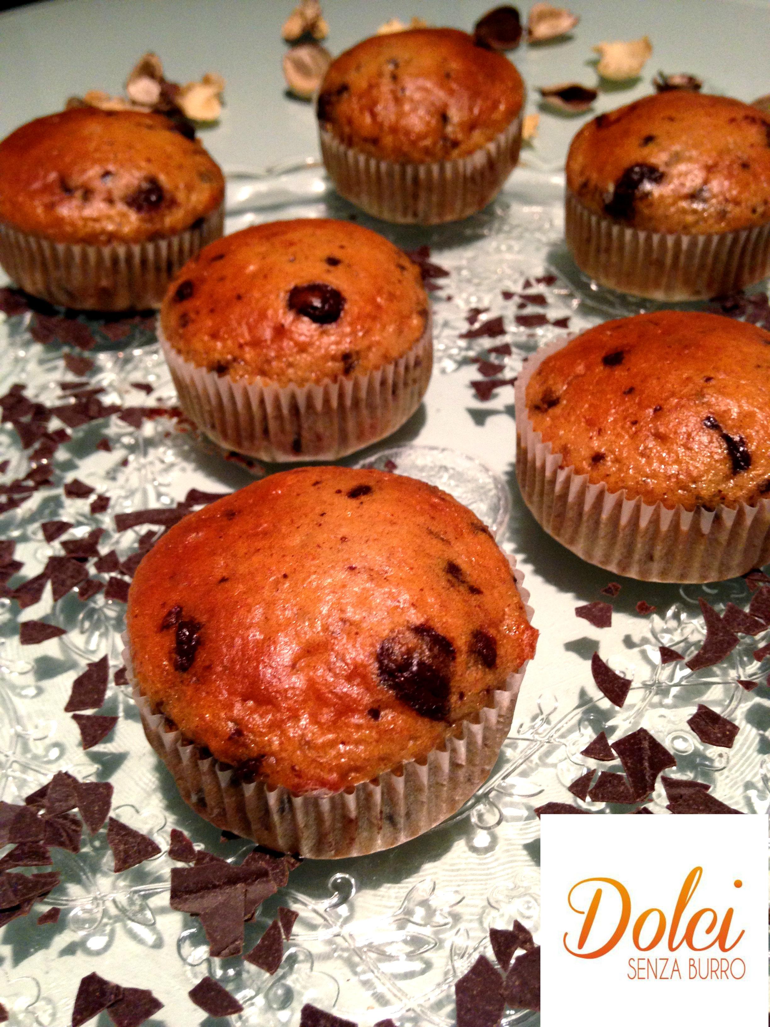 muffin integrali senza burro al cioccolato, un goloso muffin di dolci senza burro