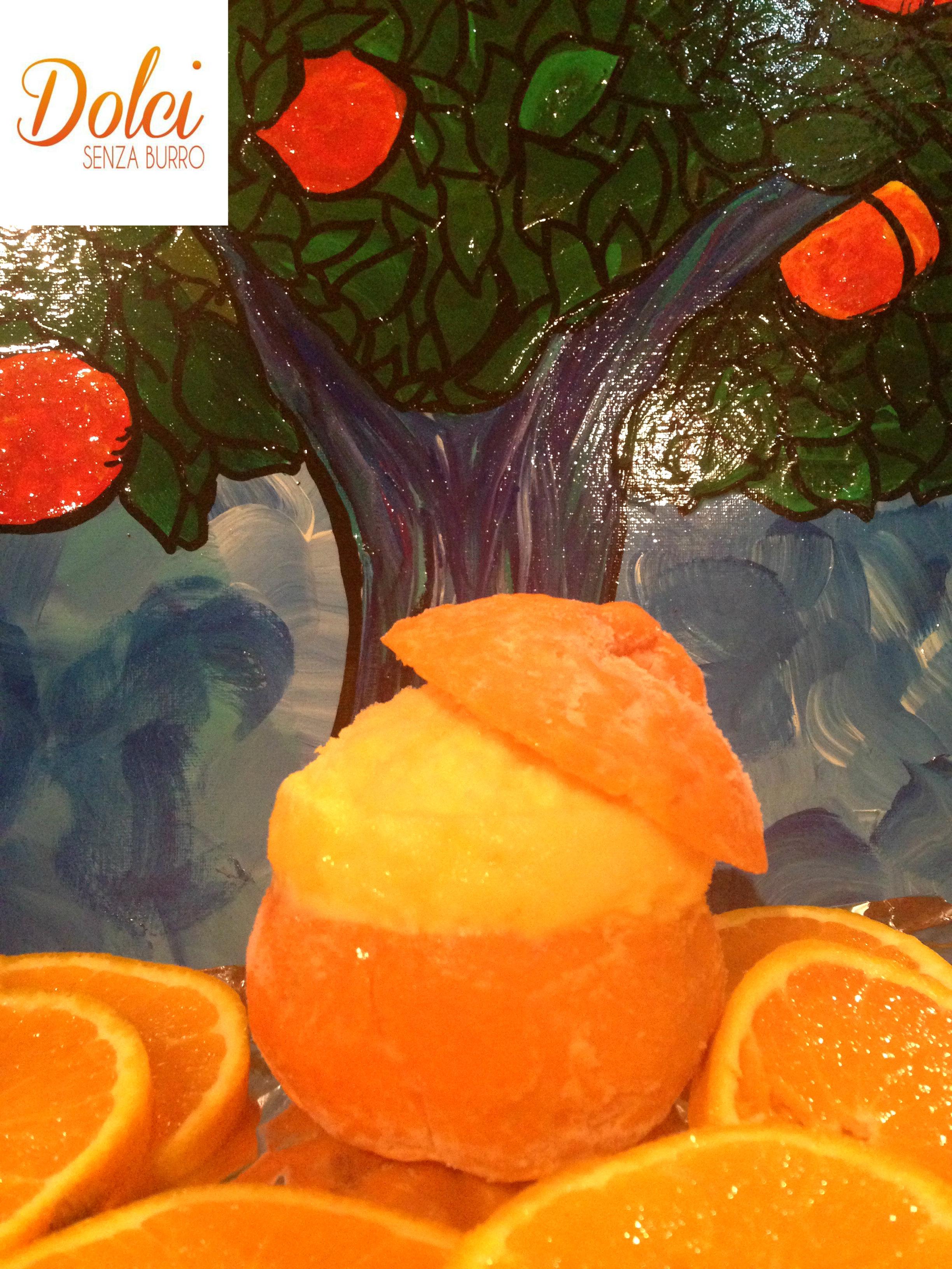 sorbetto al mandarino facile e veloce di dolci senza burro