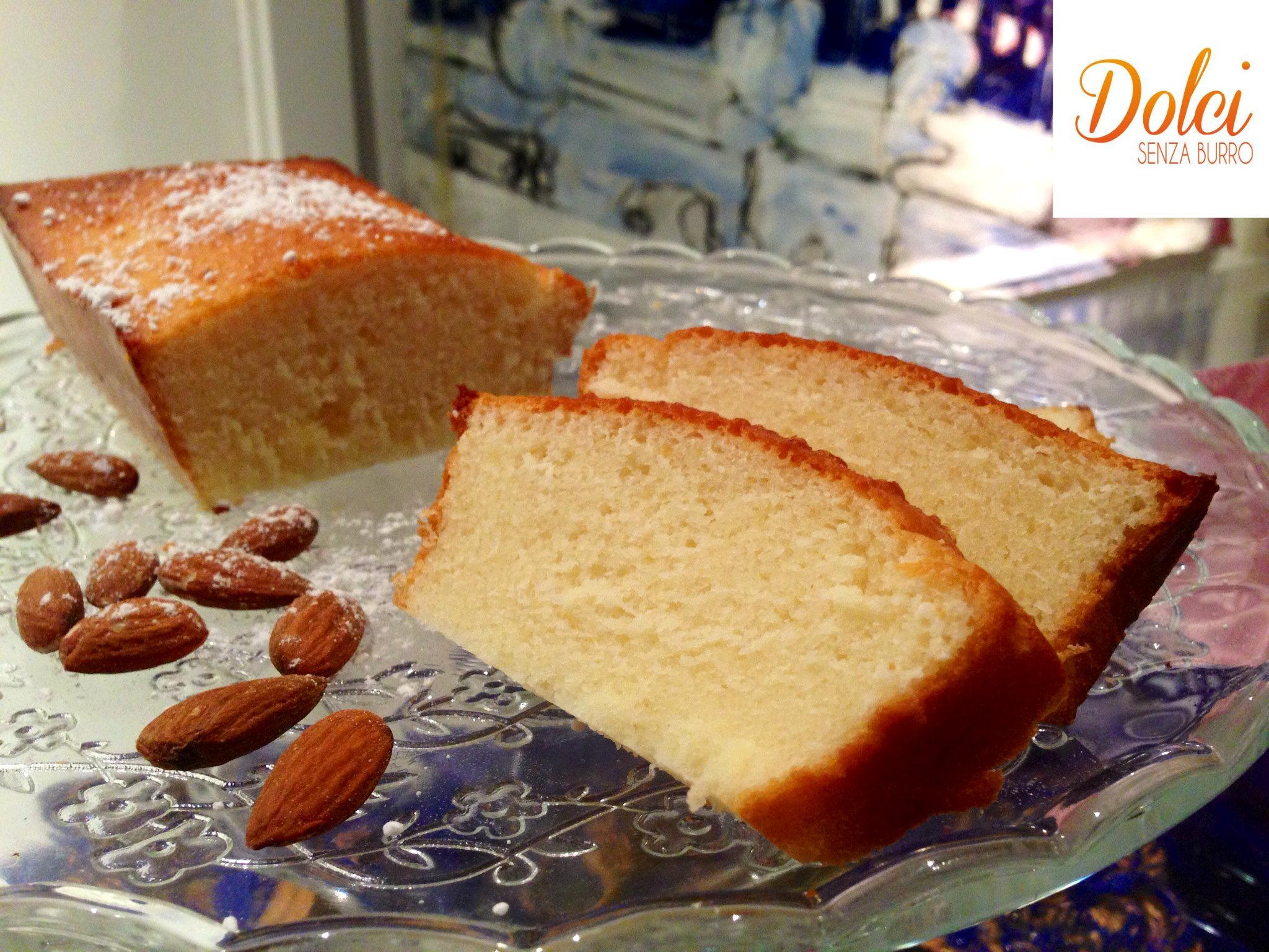 Torta alle Mandorle Senza Burro, il dolce senza lattosio di dolci senza burro