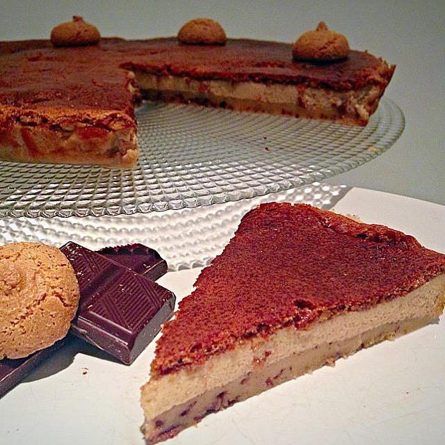 La Crescionda di Spoleto a base di cioccolato e amaretti!