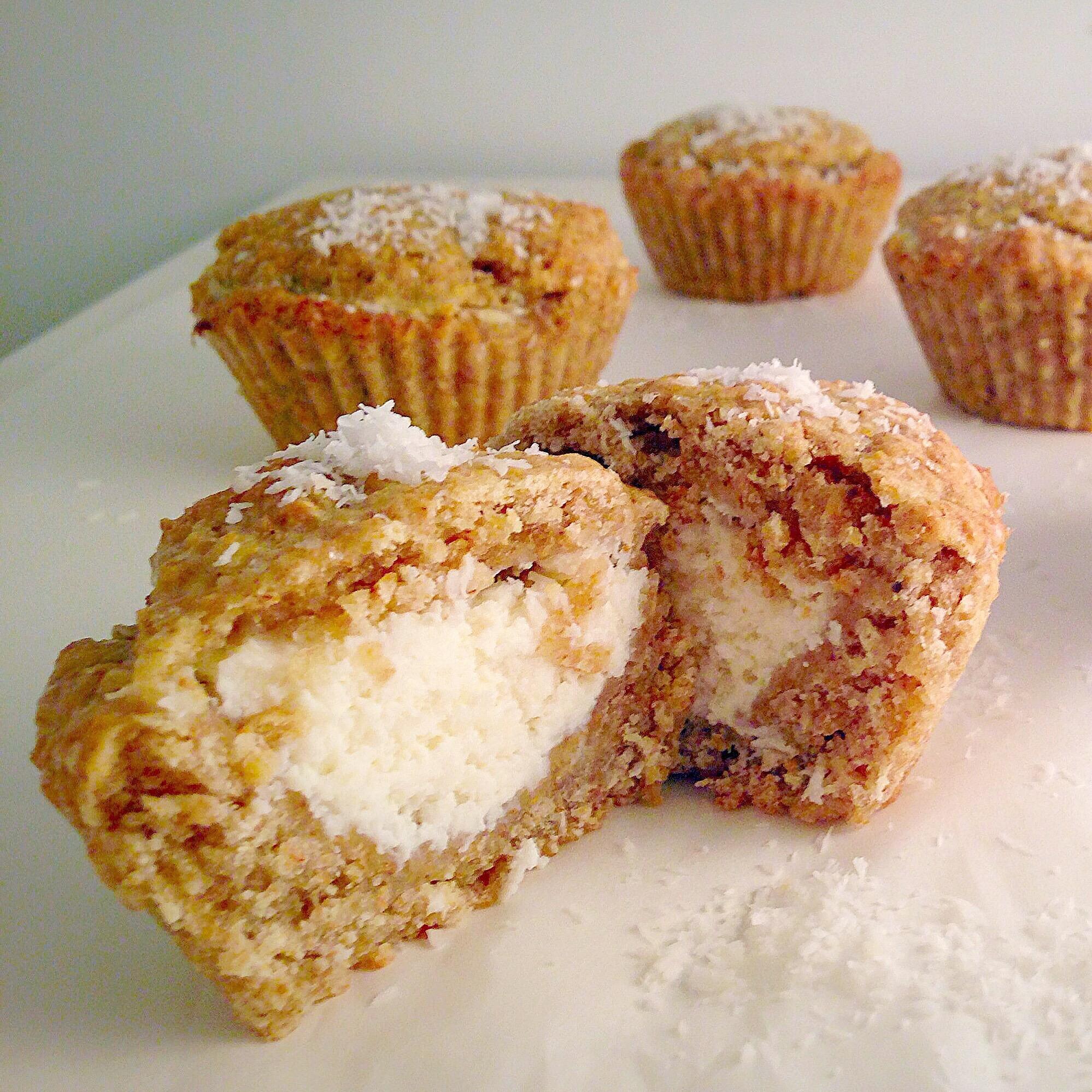 Muffin di Frolla Integrale Senza Burro al Cocco, originali e golosi di dolci senza burro