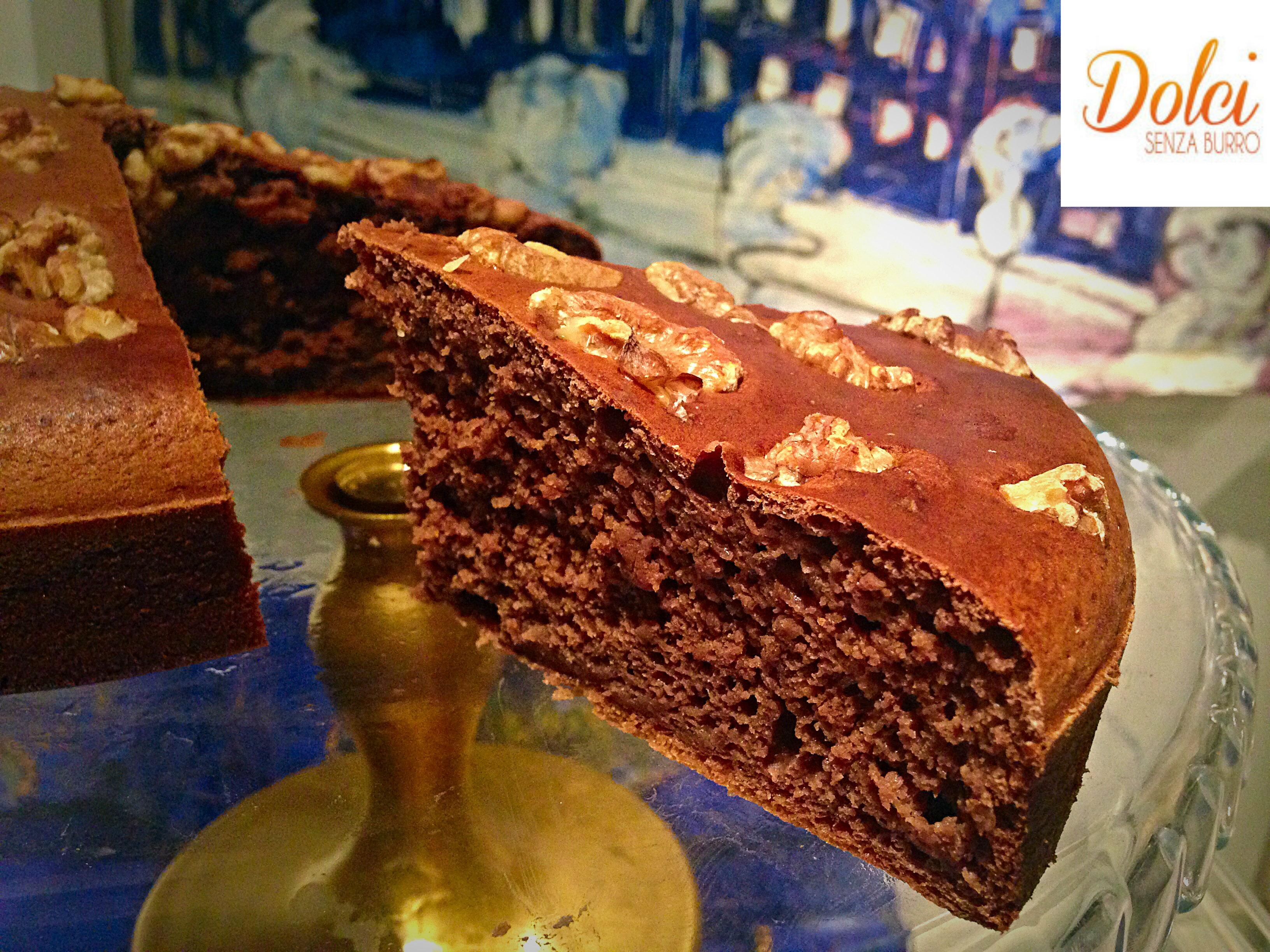 Torta al Cioccolato e Caffè Senza Burro e Glutine di dolci senza burro