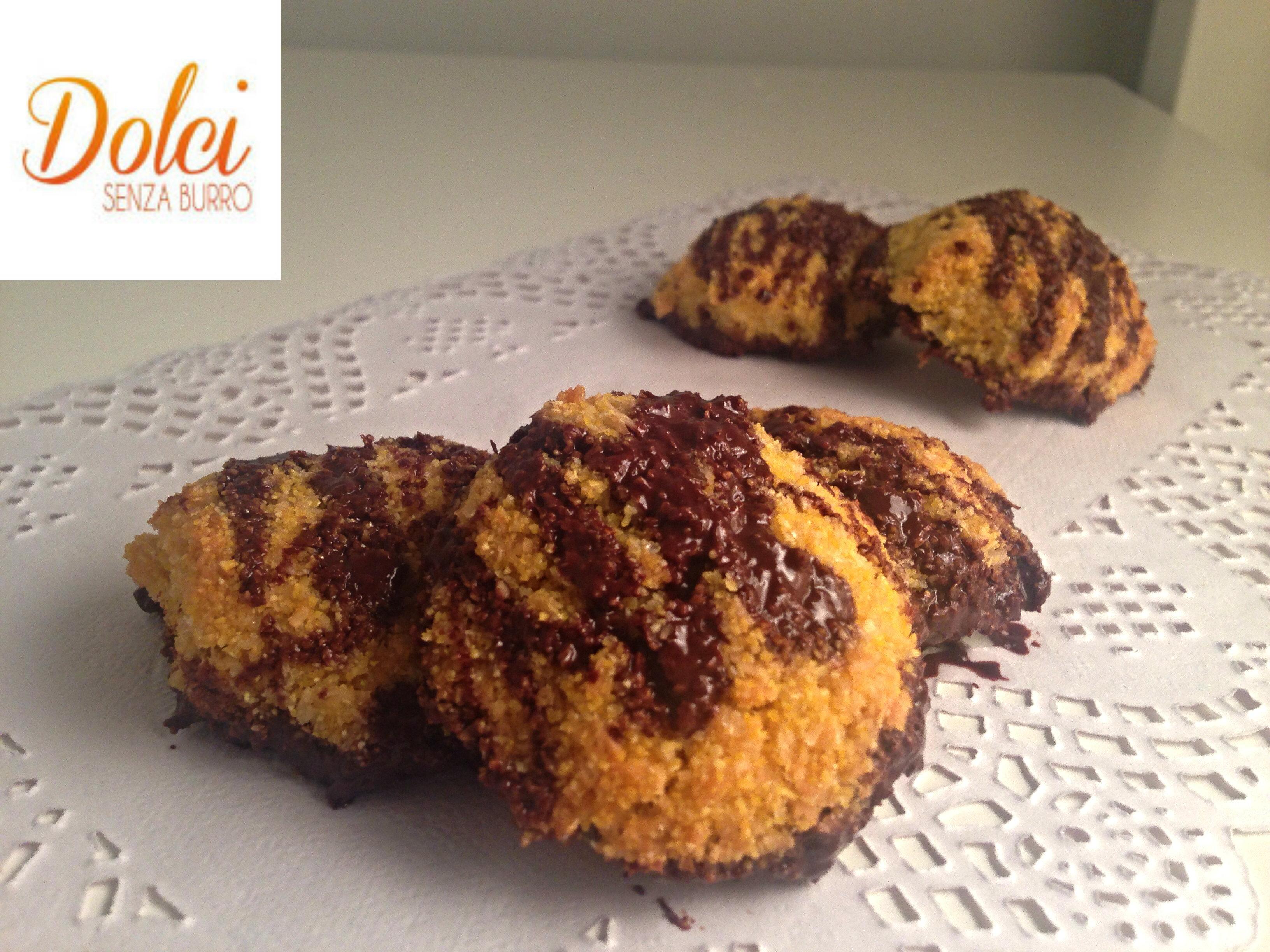 Biscotti al Cocco e Cioccolato Senza Burro un goloso biscotto di dolci senza burro